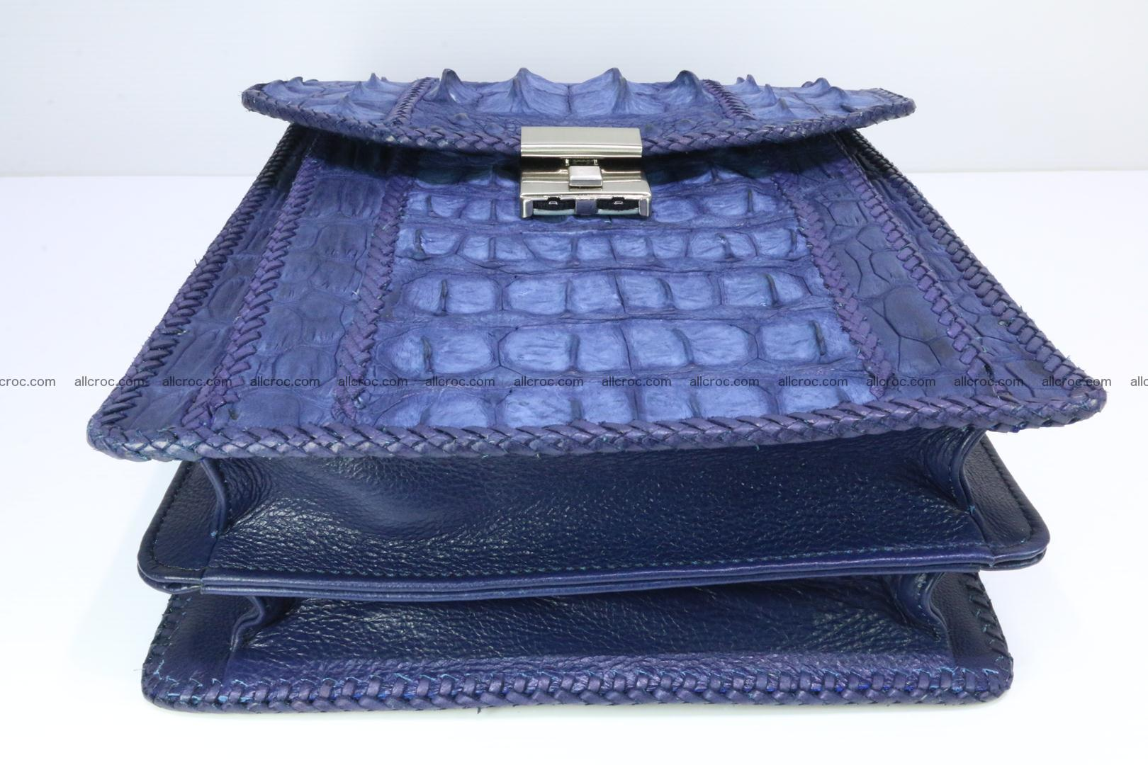 Crocodile skin messenger bag braided edges 422 Foto 12