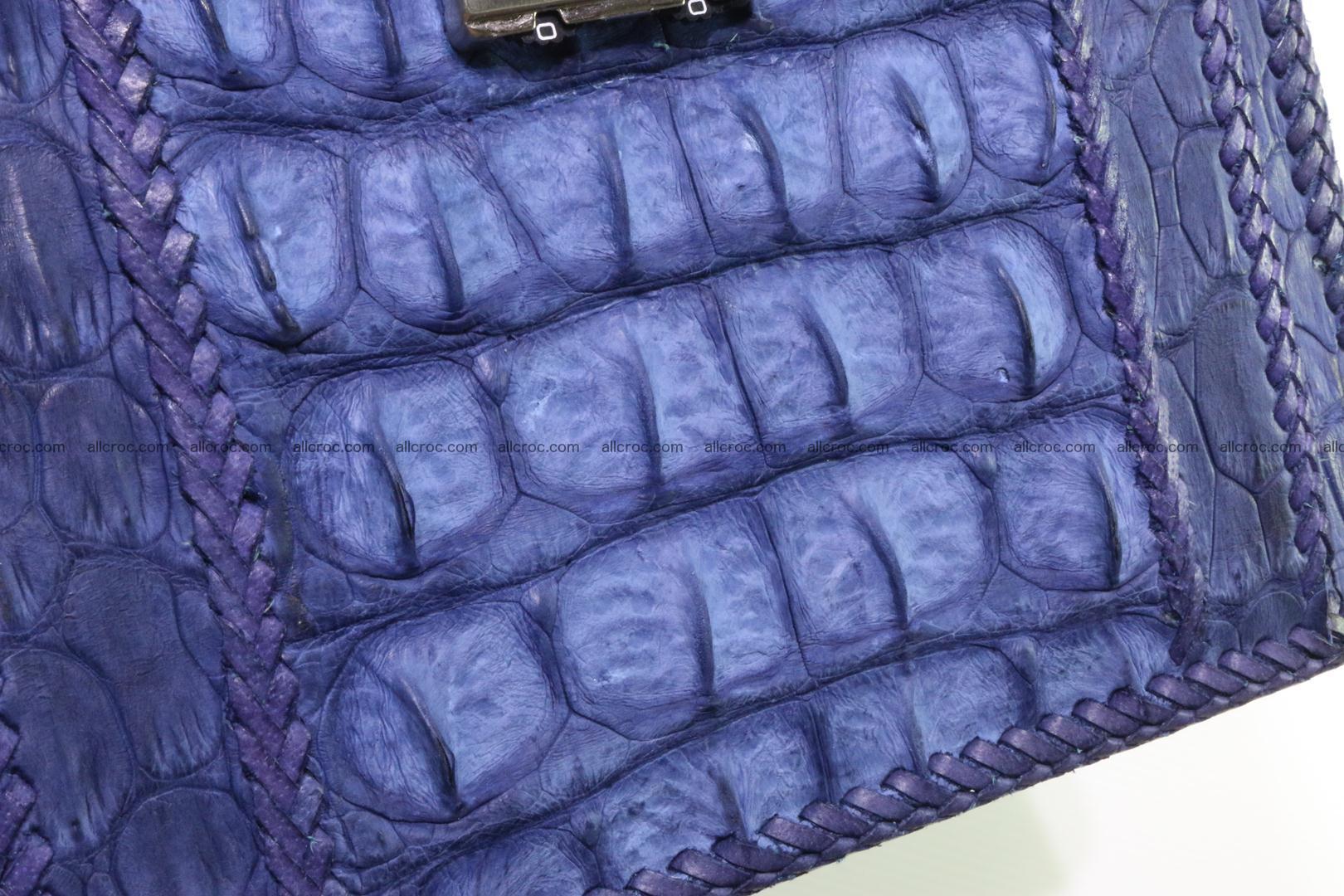 Crocodile skin messenger bag braided edges 422 Foto 14