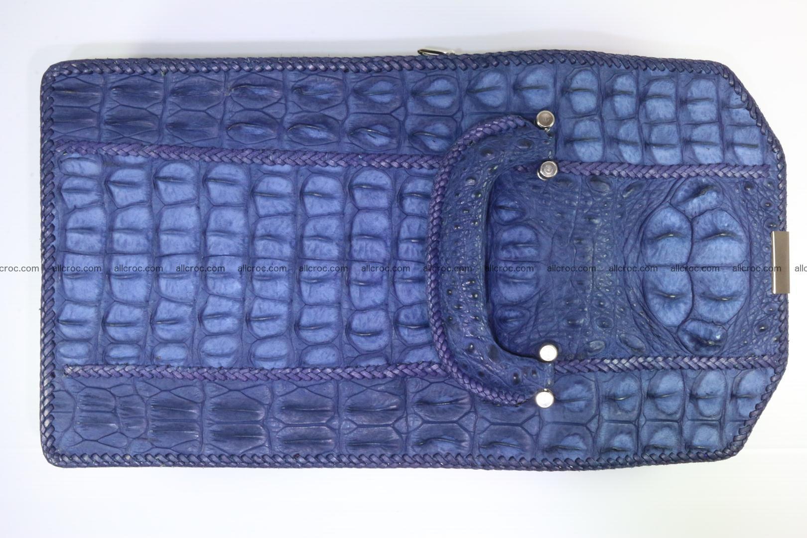 Crocodile skin messenger bag braided edges 422 Foto 13