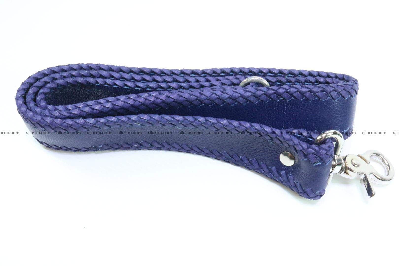 Crocodile skin messenger bag braided edges 419 Foto 12