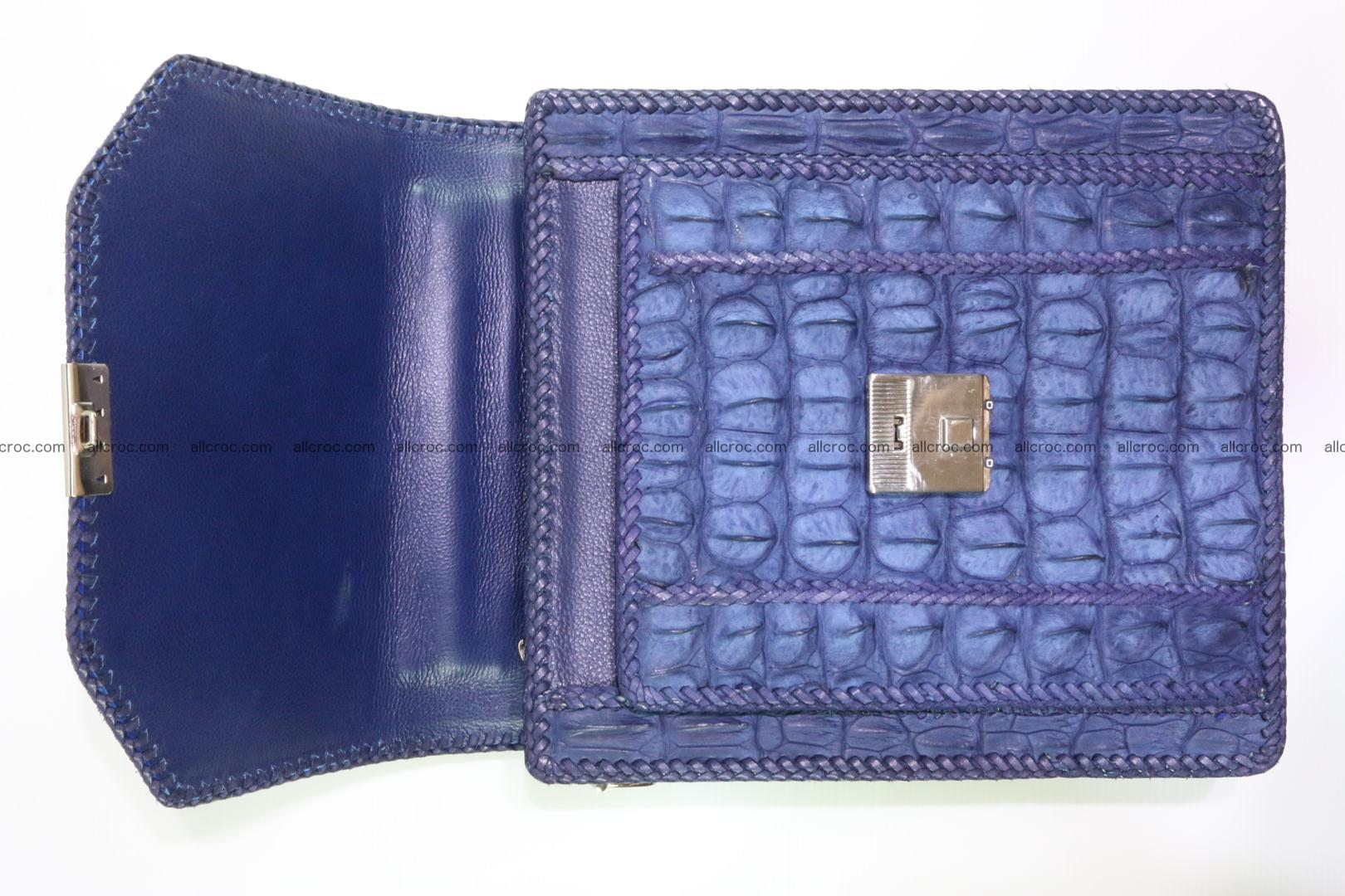 Crocodile skin messenger bag braided edges 422 Foto 15
