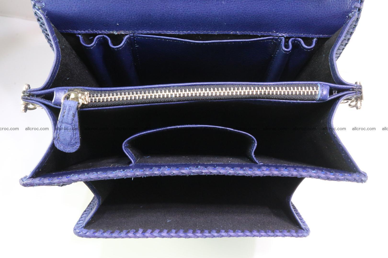 Crocodile skin messenger bag braided edges 419 Foto 11