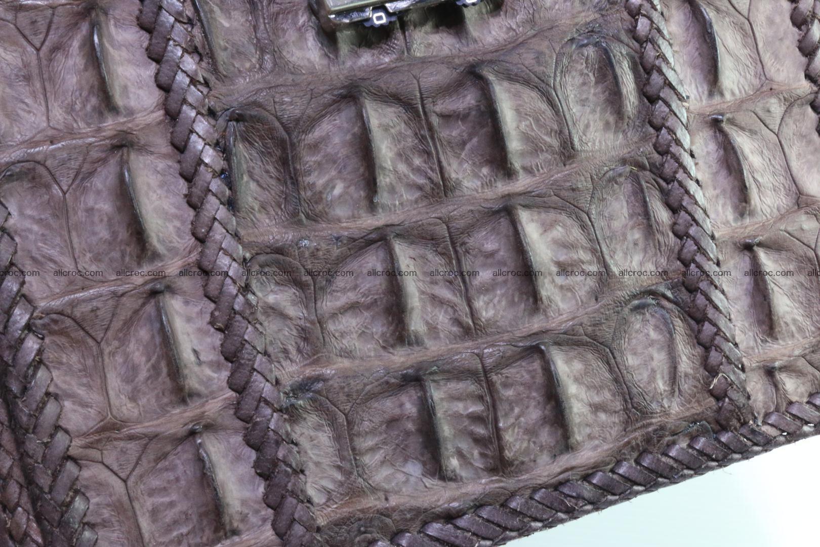 Crocodile skin messenger bag braided edges 421 Foto 13