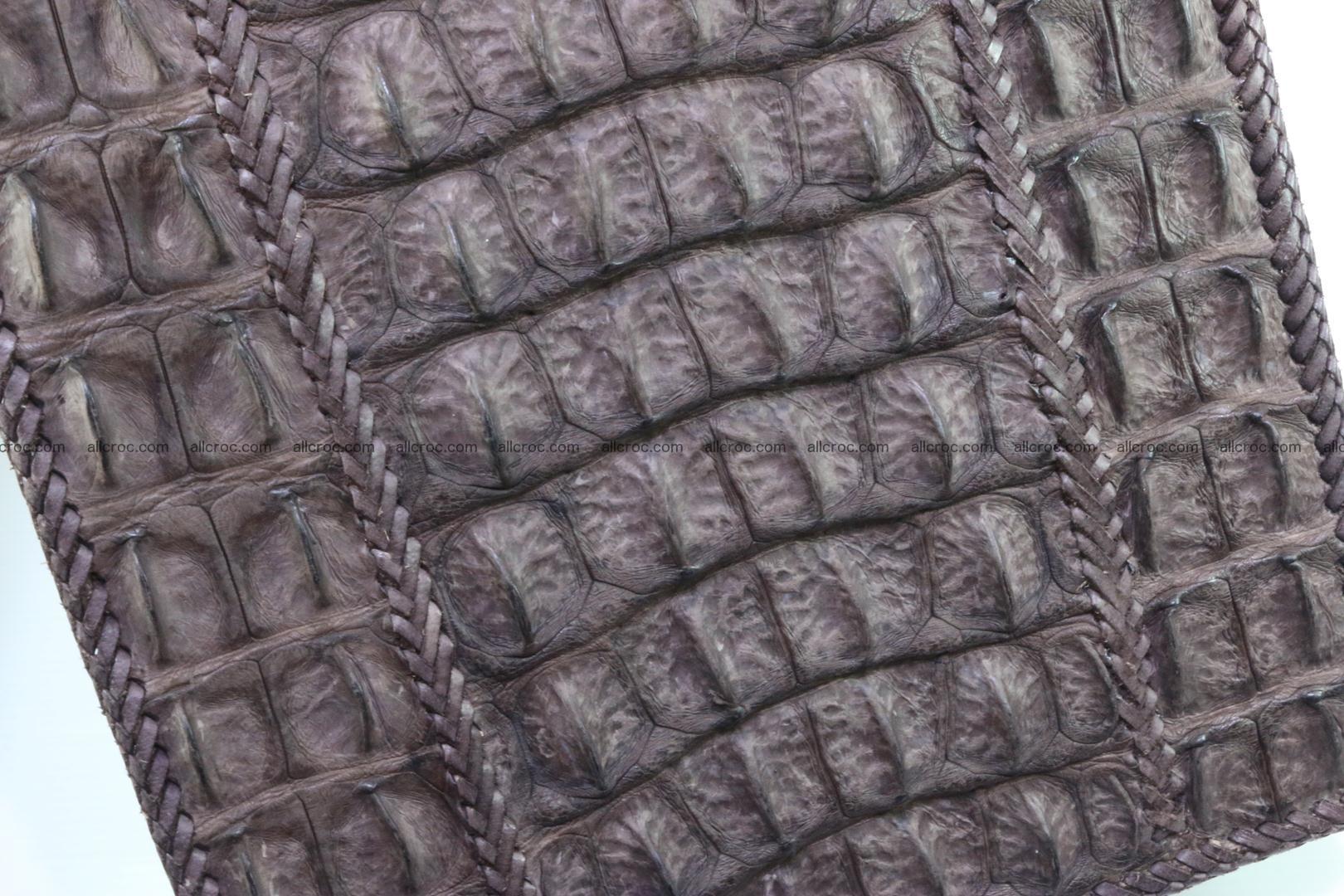 Crocodile skin messenger bag braided edges 421 Foto 14