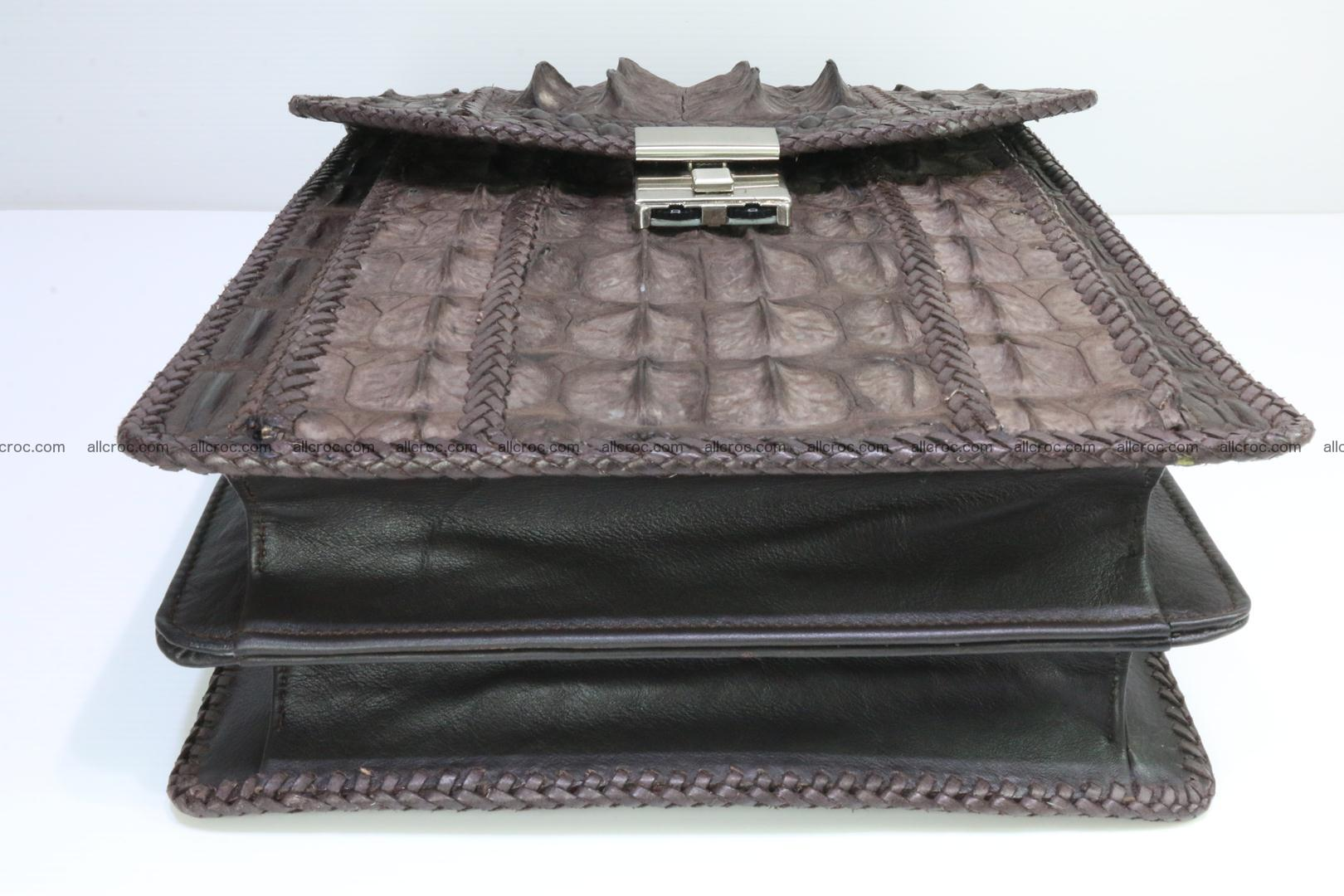 Crocodile skin messenger bag braided edges 421 Foto 15