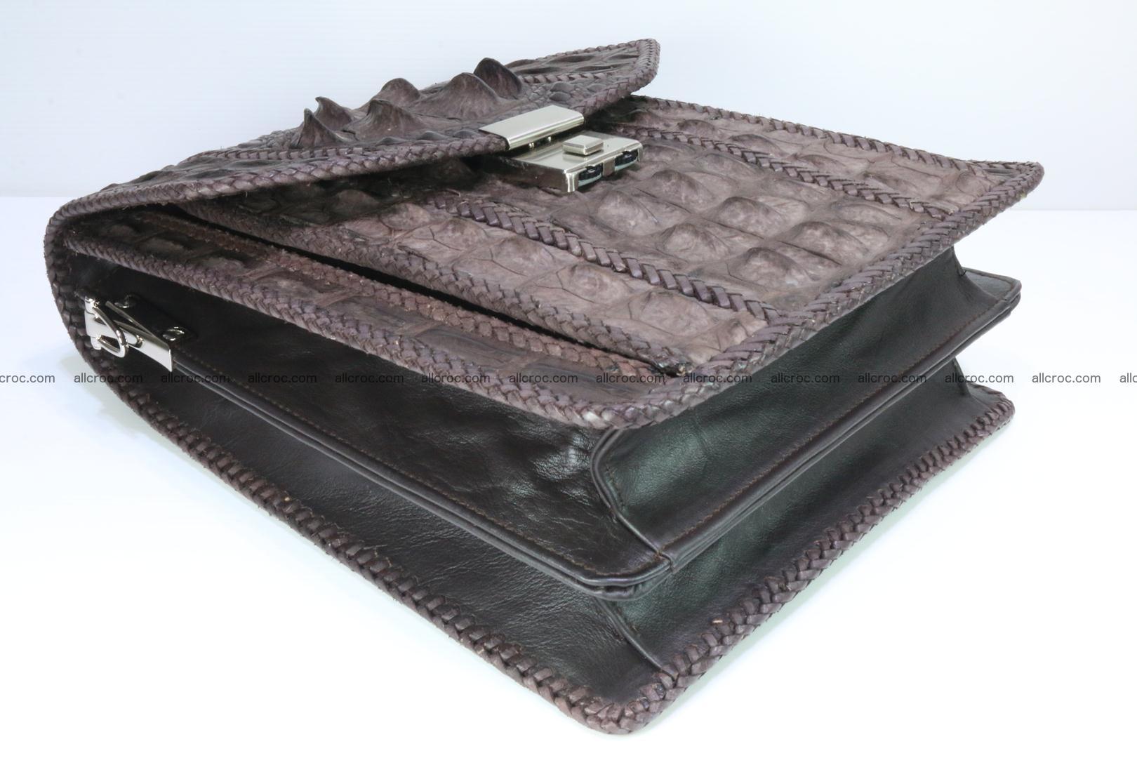 Crocodile skin messenger bag braided edges 421 Foto 10