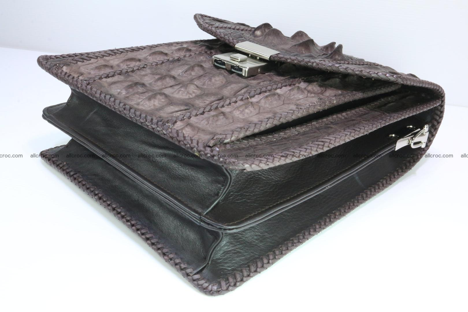 Crocodile skin messenger bag braided edges 421 Foto 11