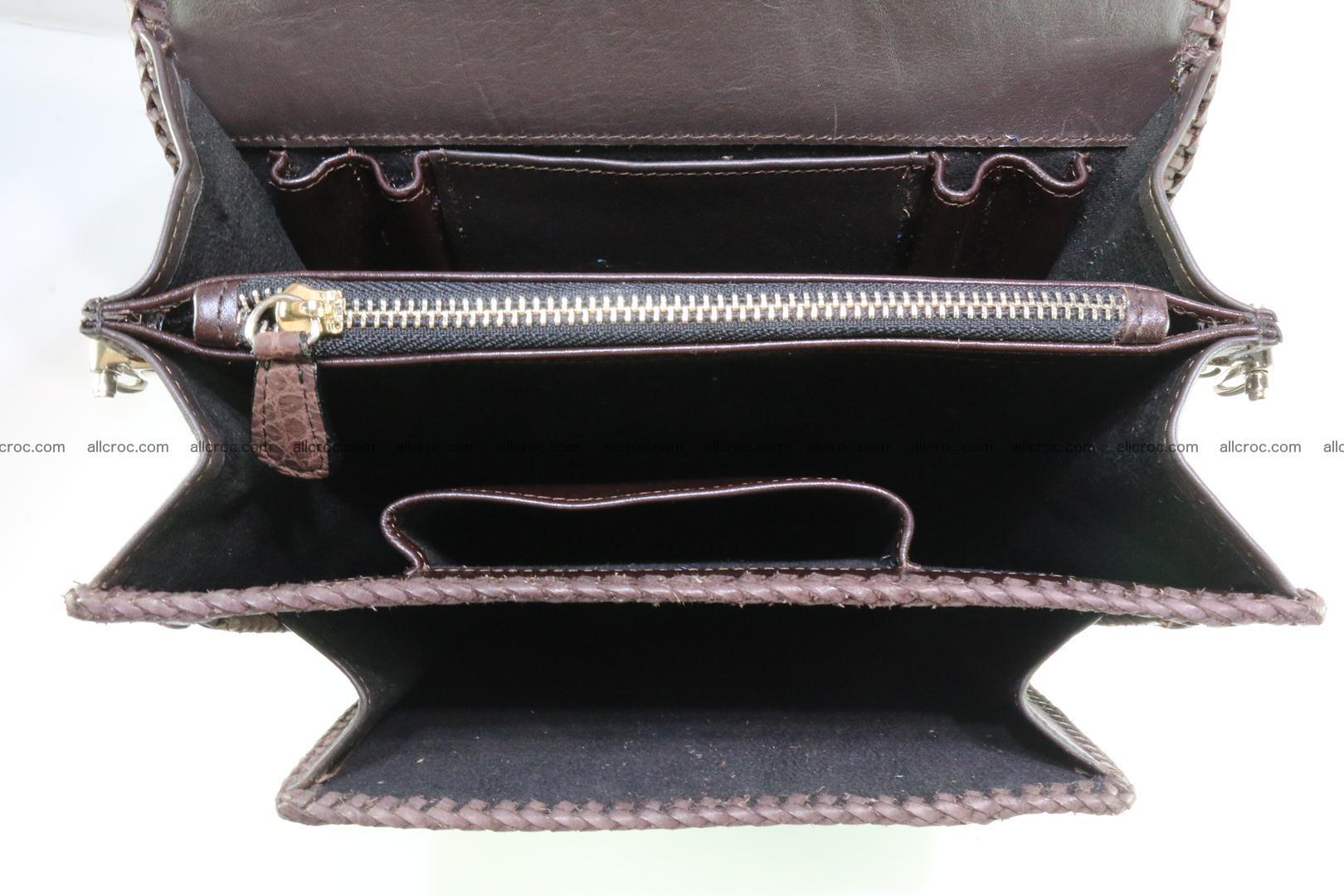 Crocodile skin messenger bag braided edges 421 Foto 16