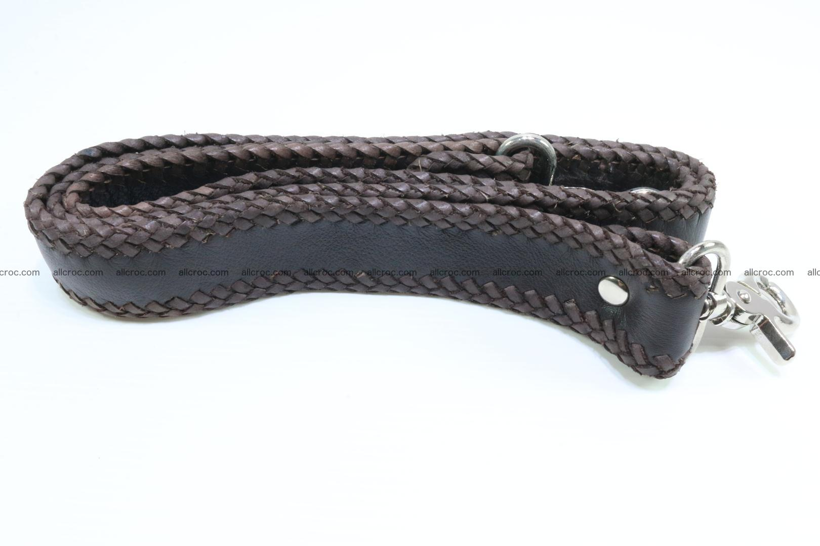 Crocodile skin messenger bag braided edges 421 Foto 17