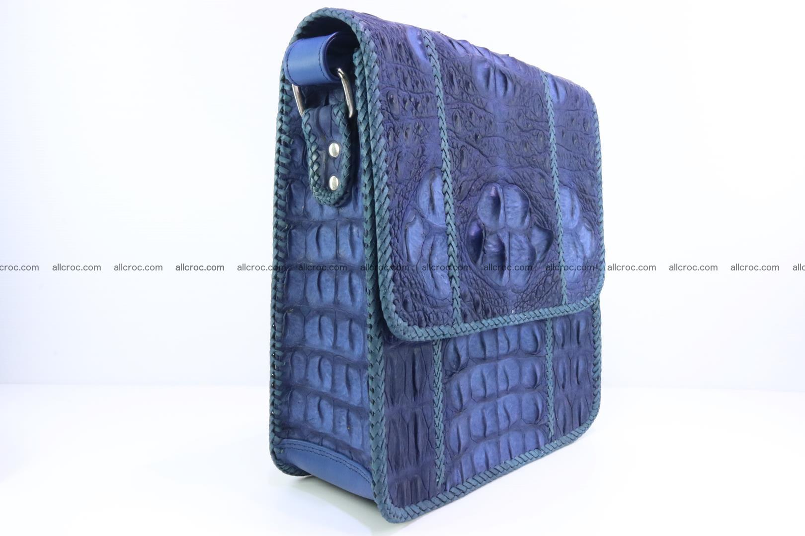 Сrocodile skin shoulder bag with braided edges 140 Foto 1