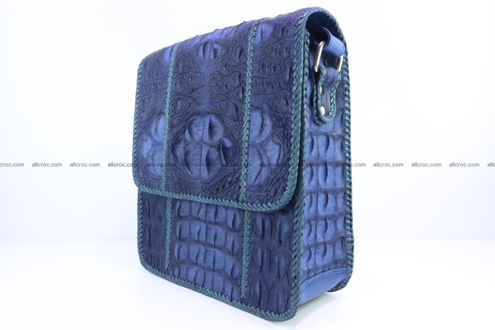 Сrocodile skin shoulder bag with braided edges 140 Foto 2