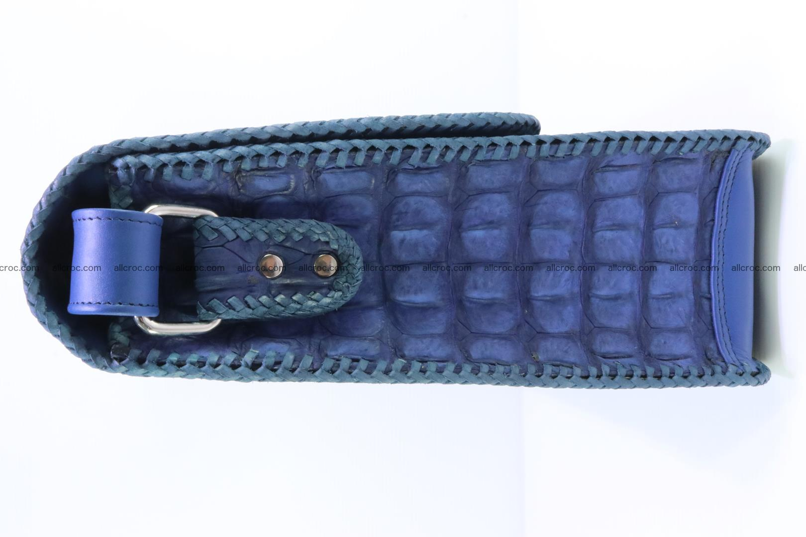Сrocodile skin shoulder bag with braided edges 140 Foto 4