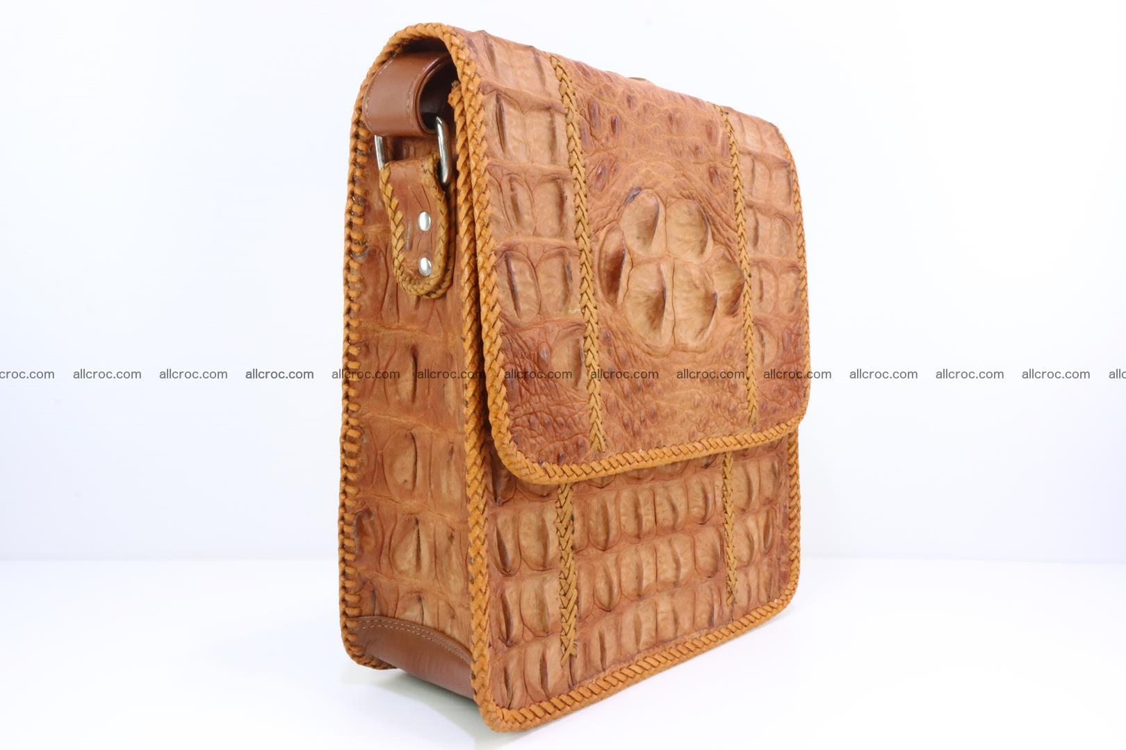 Сrocodile skin shoulder bag with braided edges 141 Foto 1
