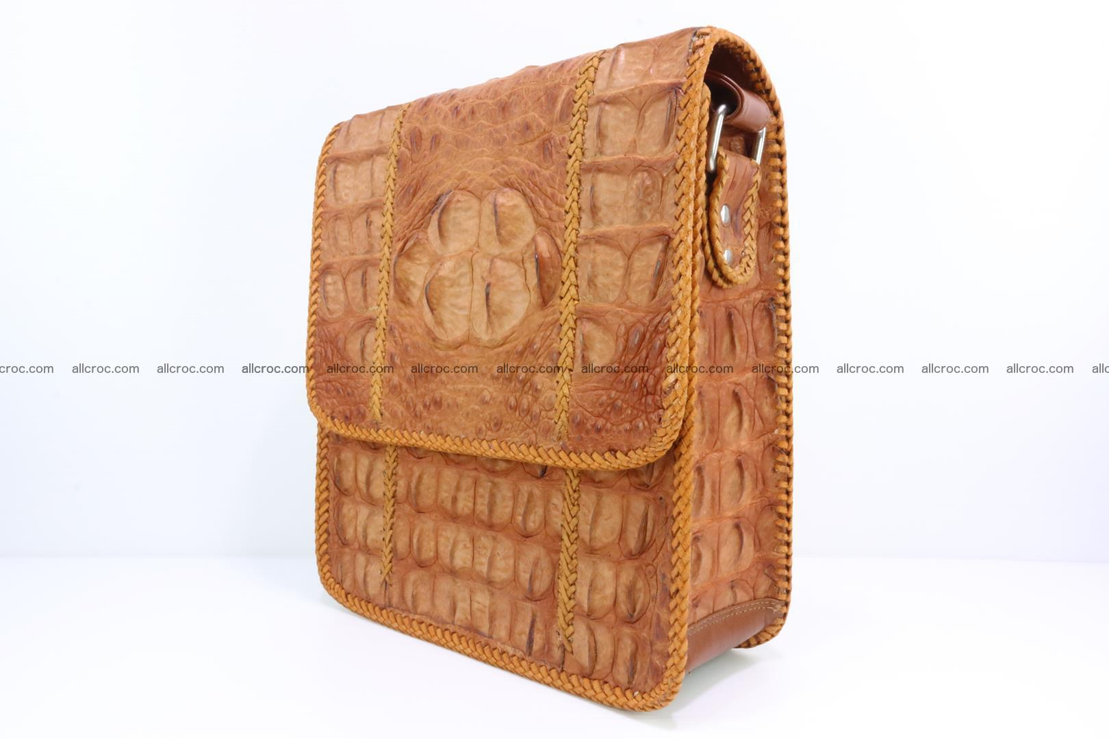 Сrocodile skin shoulder bag with braided edges 141 Foto 2