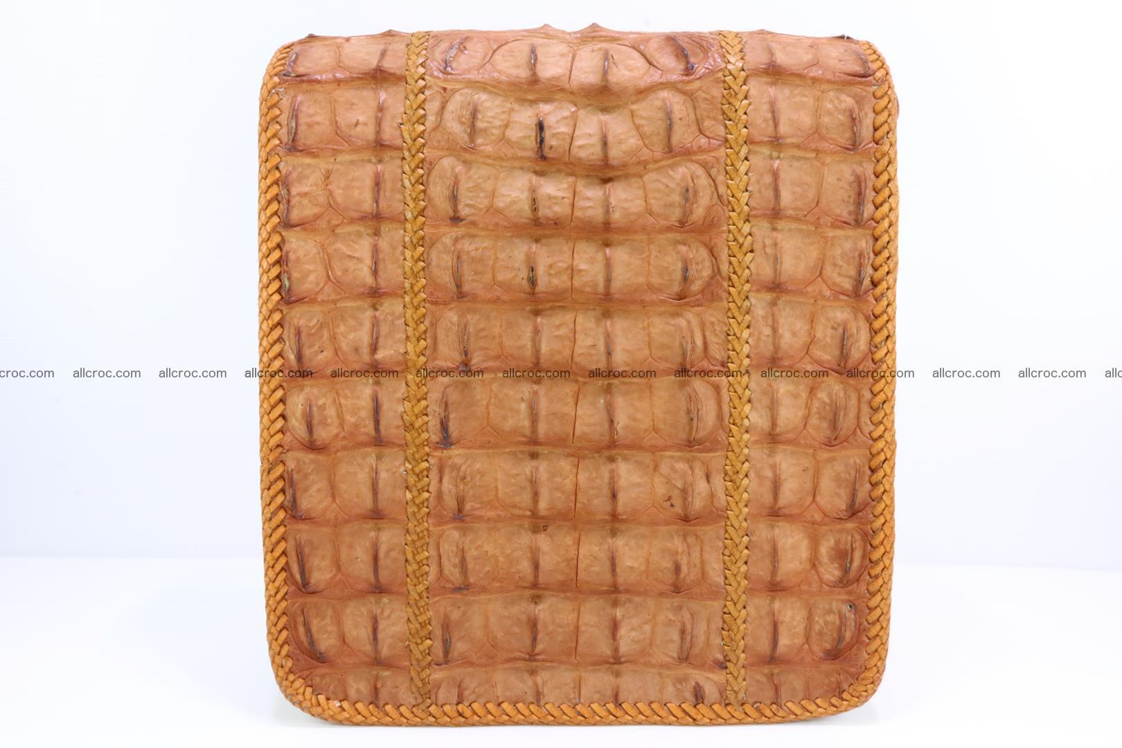 Сrocodile skin shoulder bag with braided edges 141 Foto 3