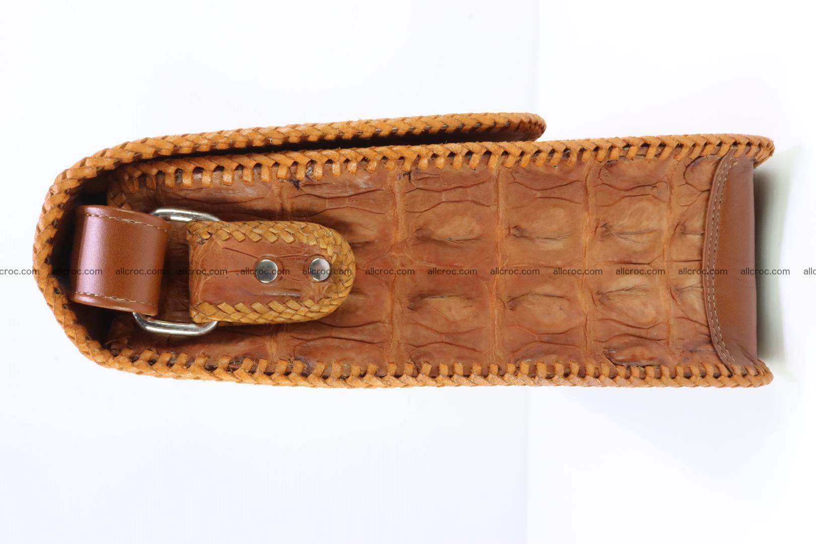Сrocodile skin shoulder bag with braided edges 141 Foto 4