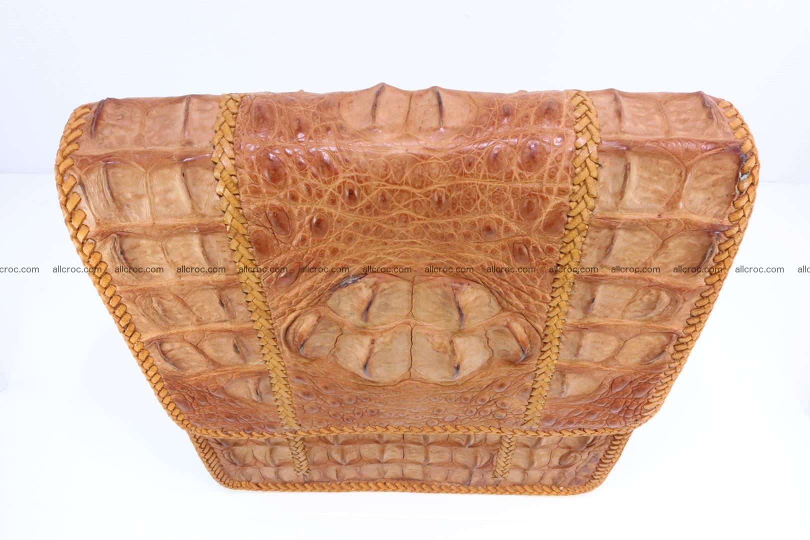 Сrocodile skin shoulder bag with braided edges 141 Foto 5