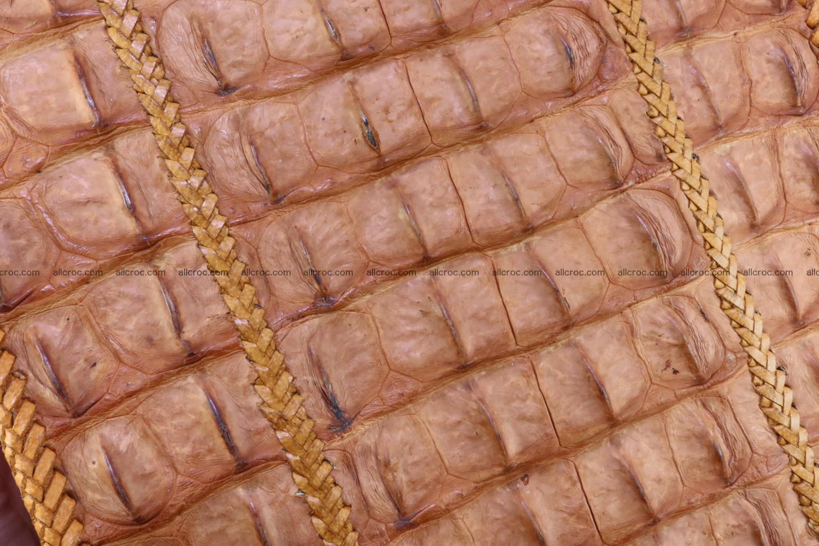 Сrocodile skin shoulder bag with braided edges 141 Foto 8