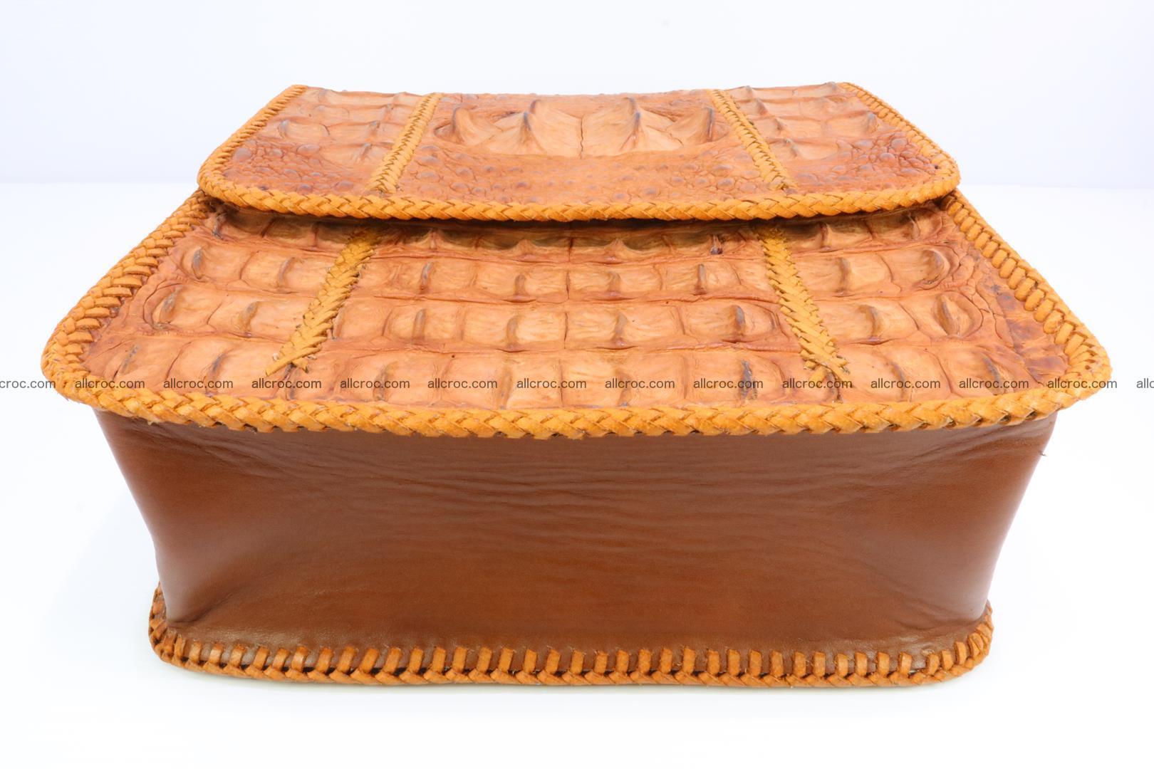 Сrocodile skin shoulder bag with braided edges 141 Foto 7