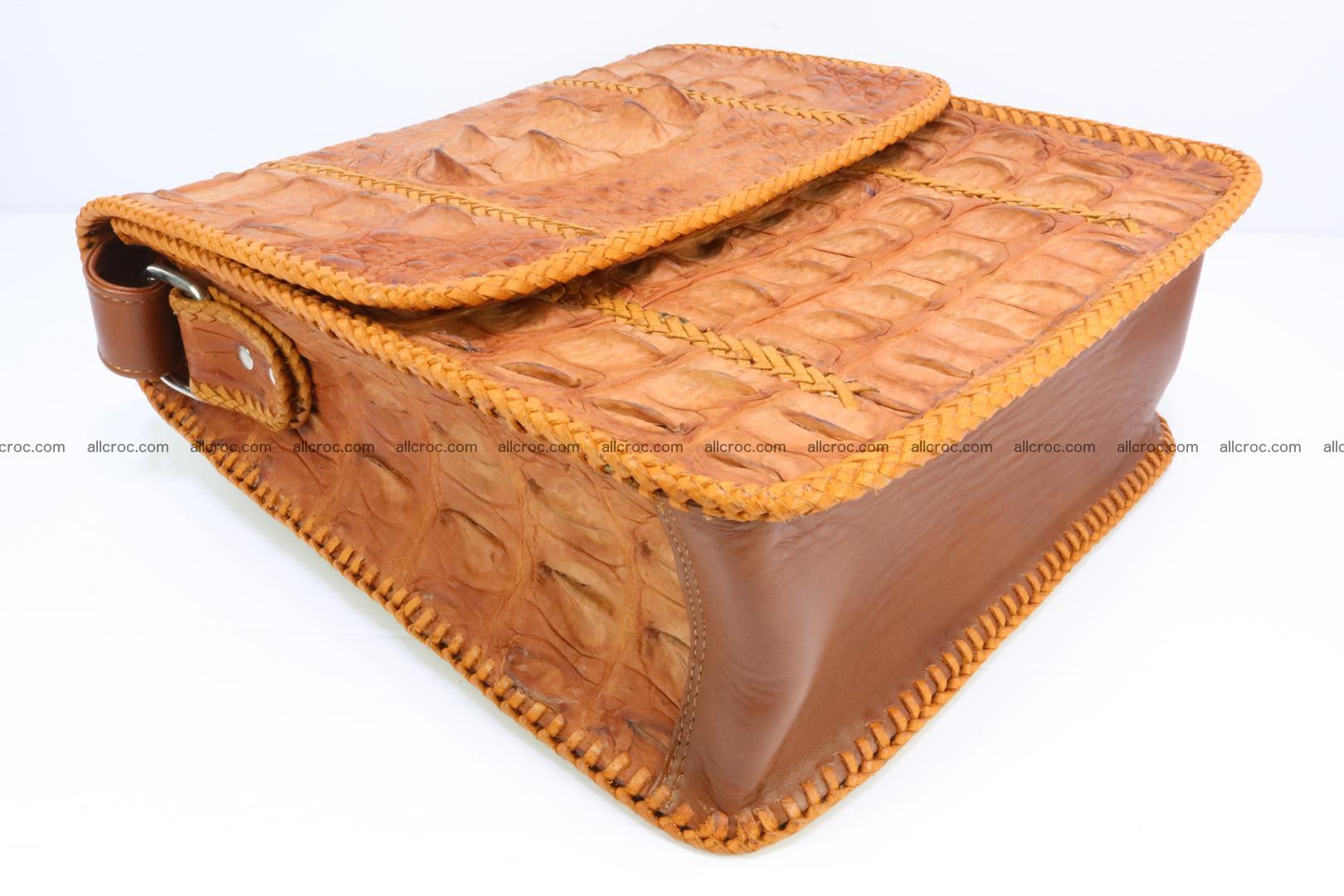 Сrocodile skin shoulder bag with braided edges 141 Foto 9