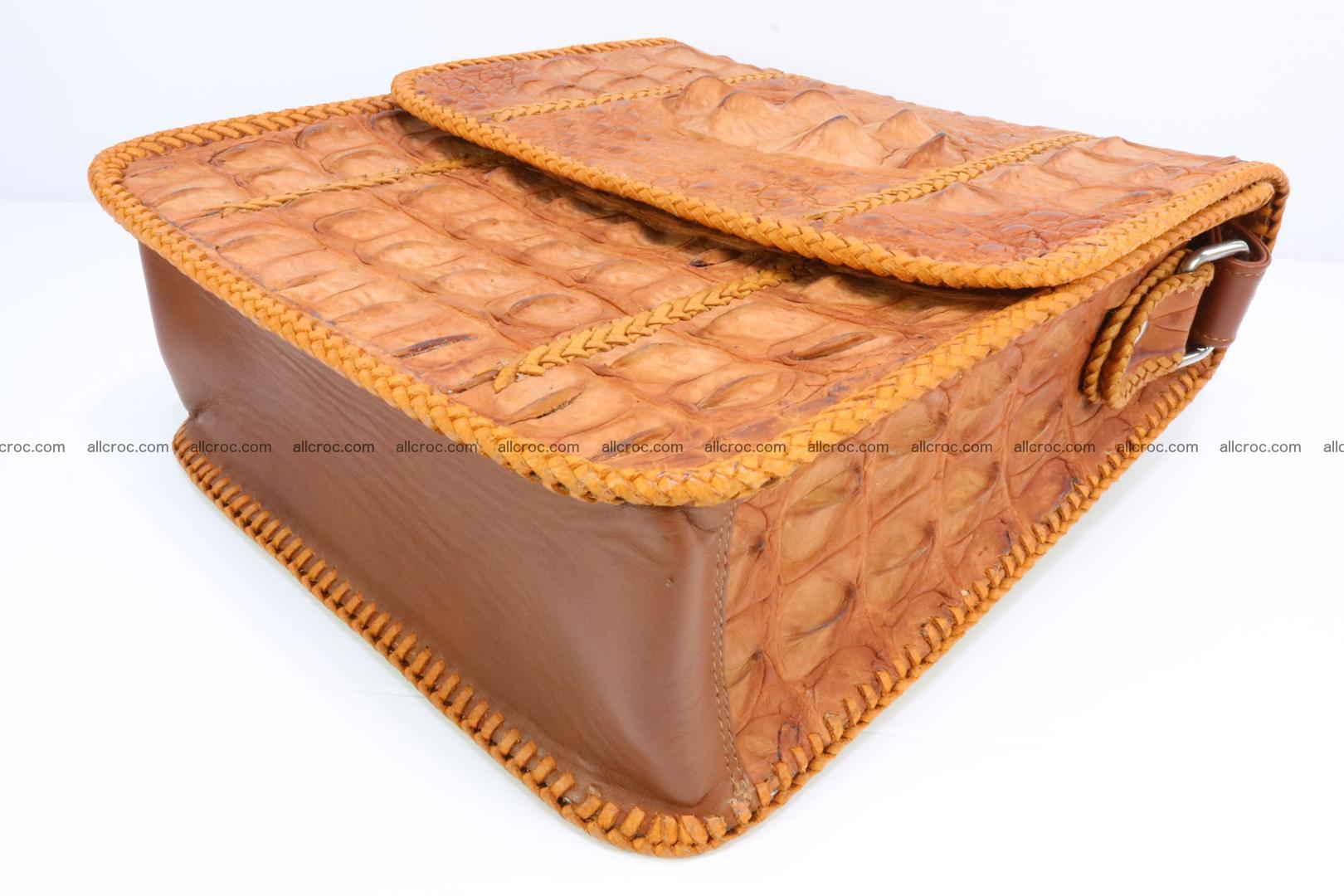 Сrocodile skin shoulder bag with braided edges 141 Foto 10