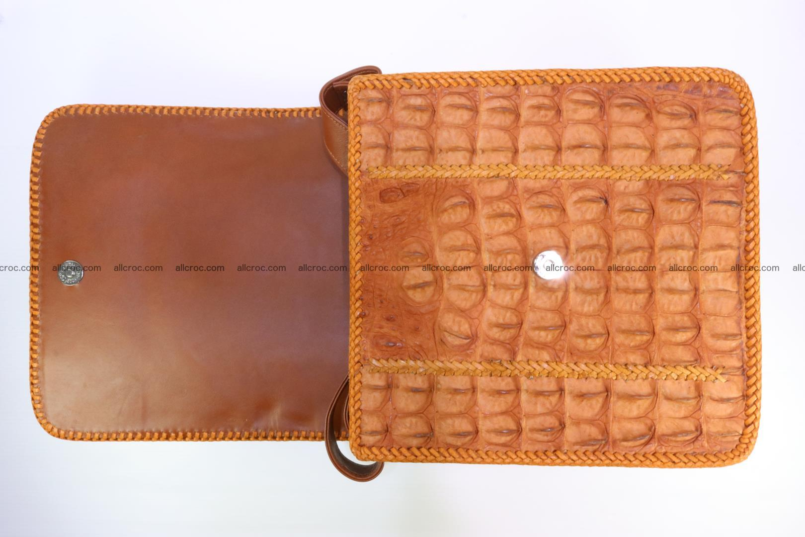 Сrocodile skin shoulder bag with braided edges 141 Foto 11