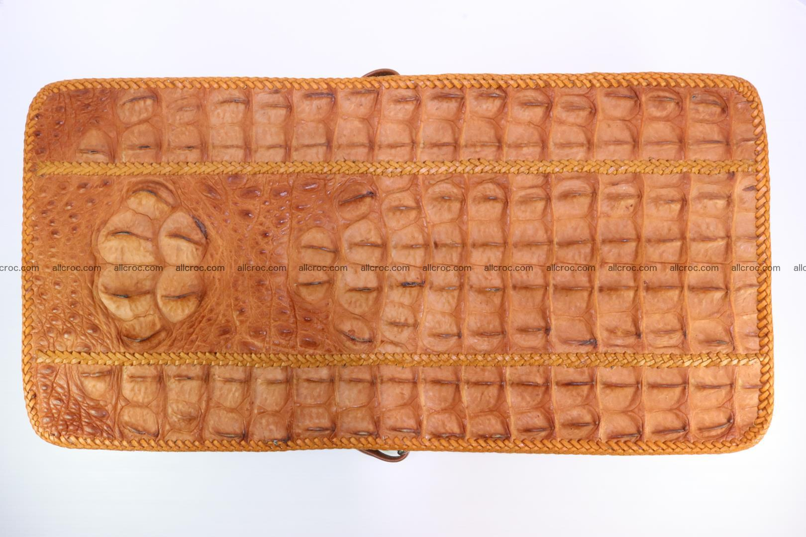 Сrocodile skin shoulder bag with braided edges 141 Foto 12