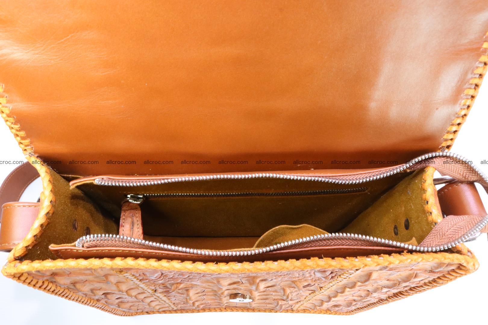 Сrocodile skin shoulder bag with braided edges 141 Foto 13