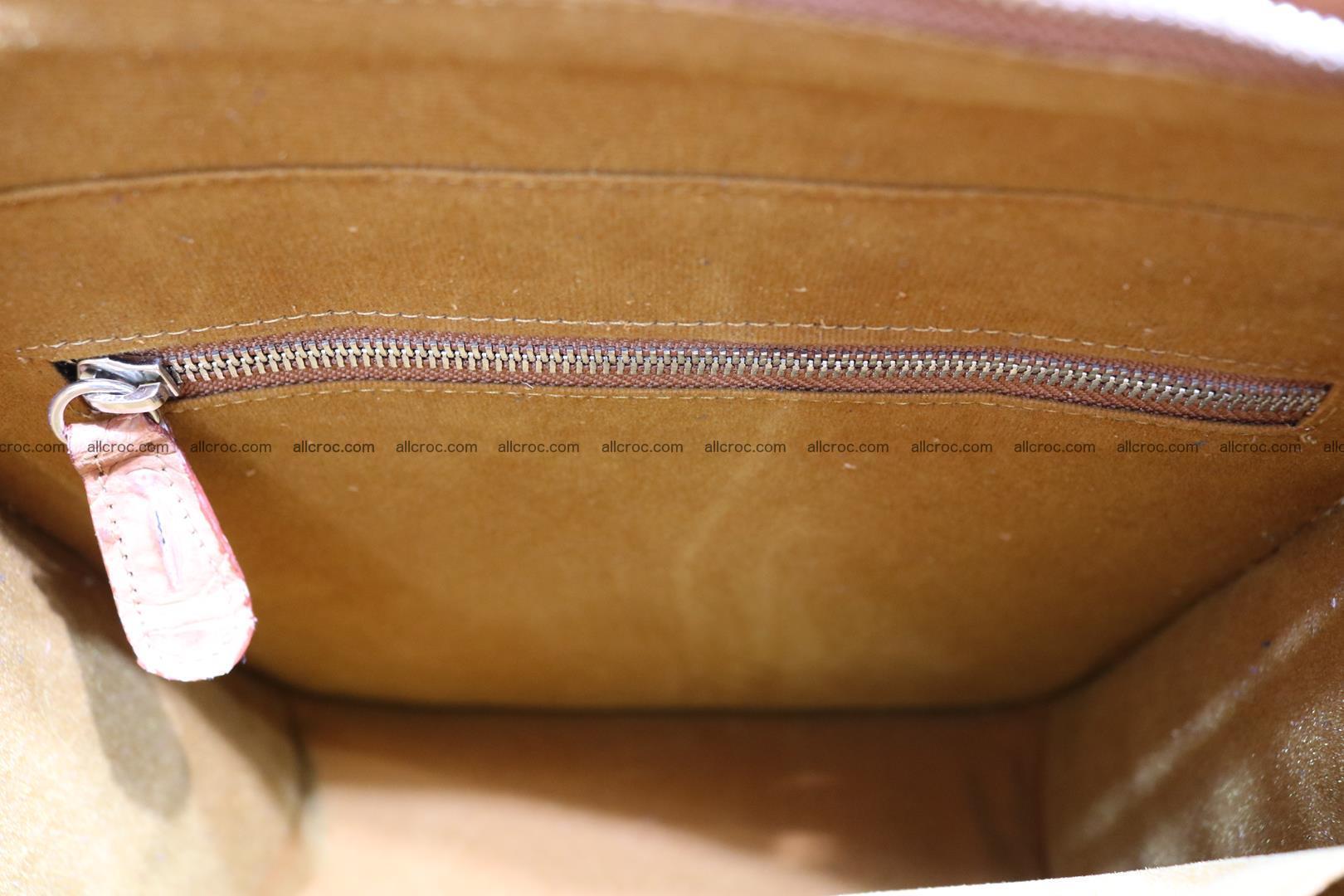 Сrocodile skin shoulder bag with braided edges 141 Foto 14