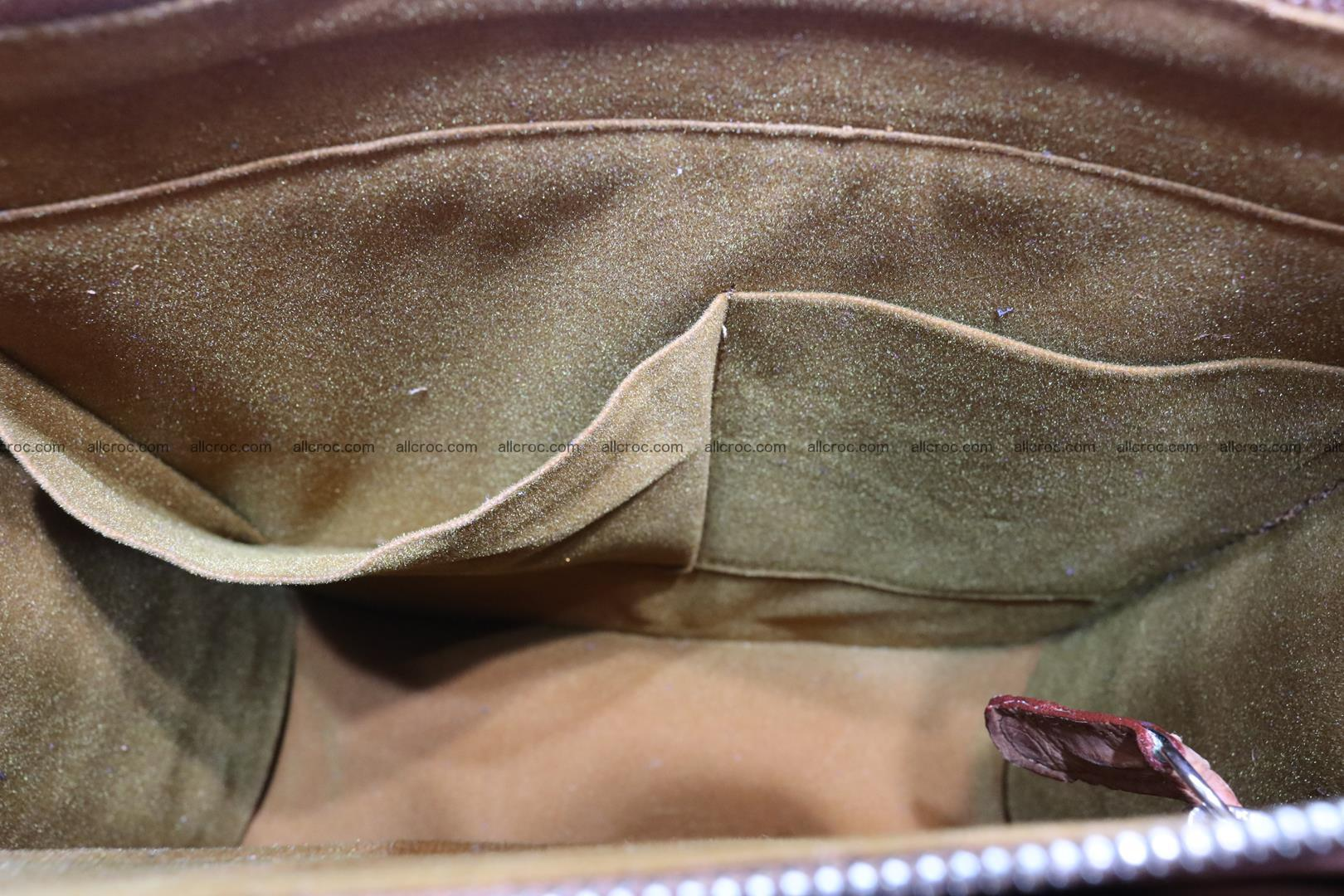 Сrocodile skin shoulder bag with braided edges 141 Foto 15