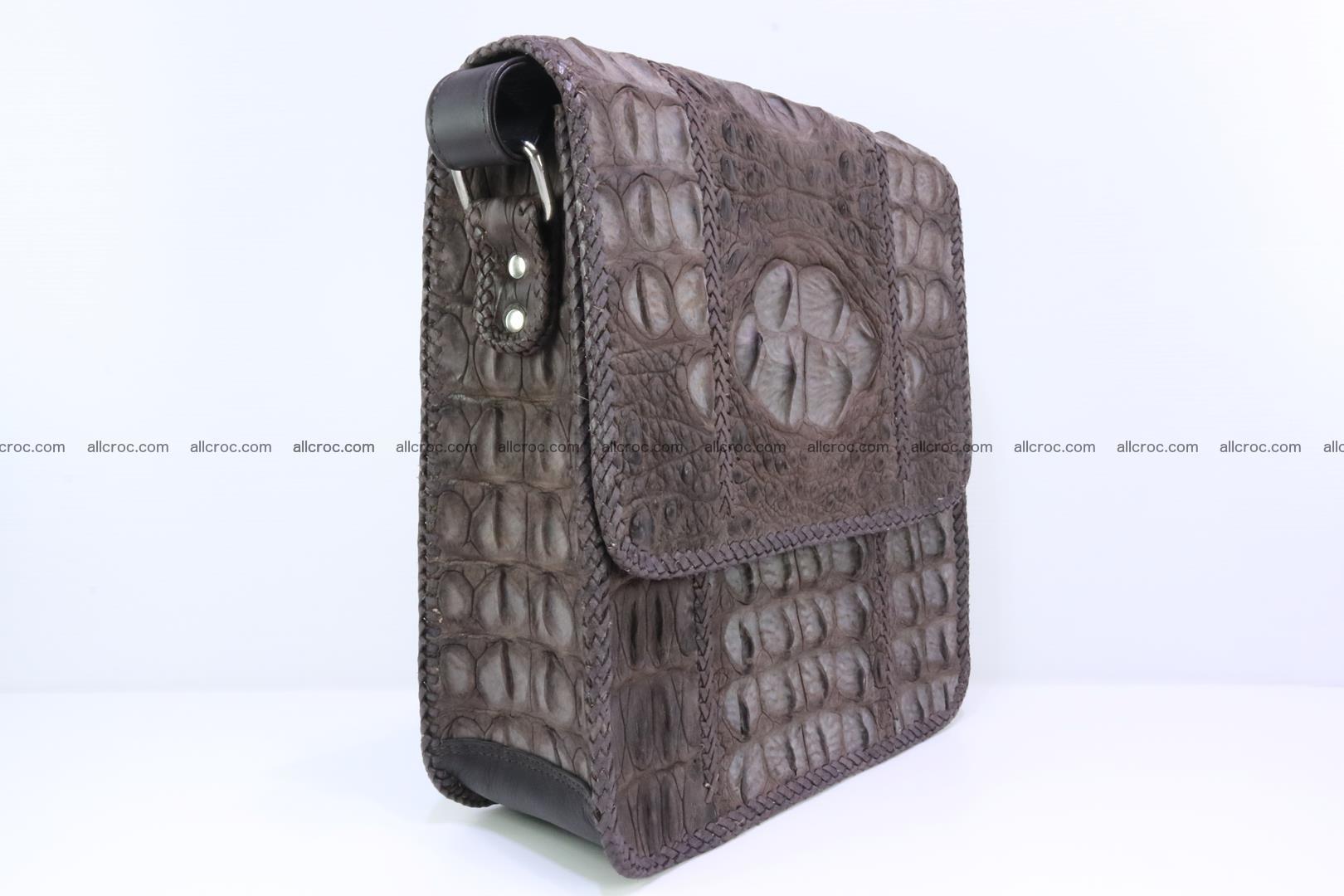 Сrocodile skin shoulder bag with braided edges 142 Foto 1
