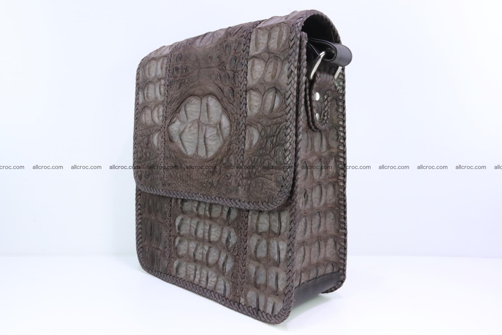 Сrocodile skin shoulder bag with braided edges 142 Foto 2
