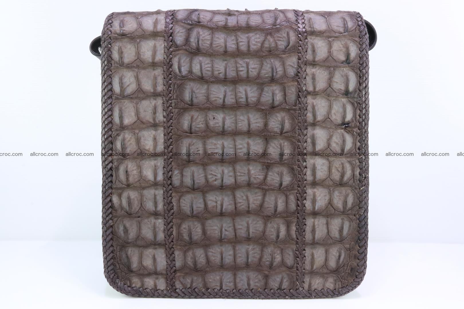 Сrocodile skin shoulder bag with braided edges 142 Foto 3