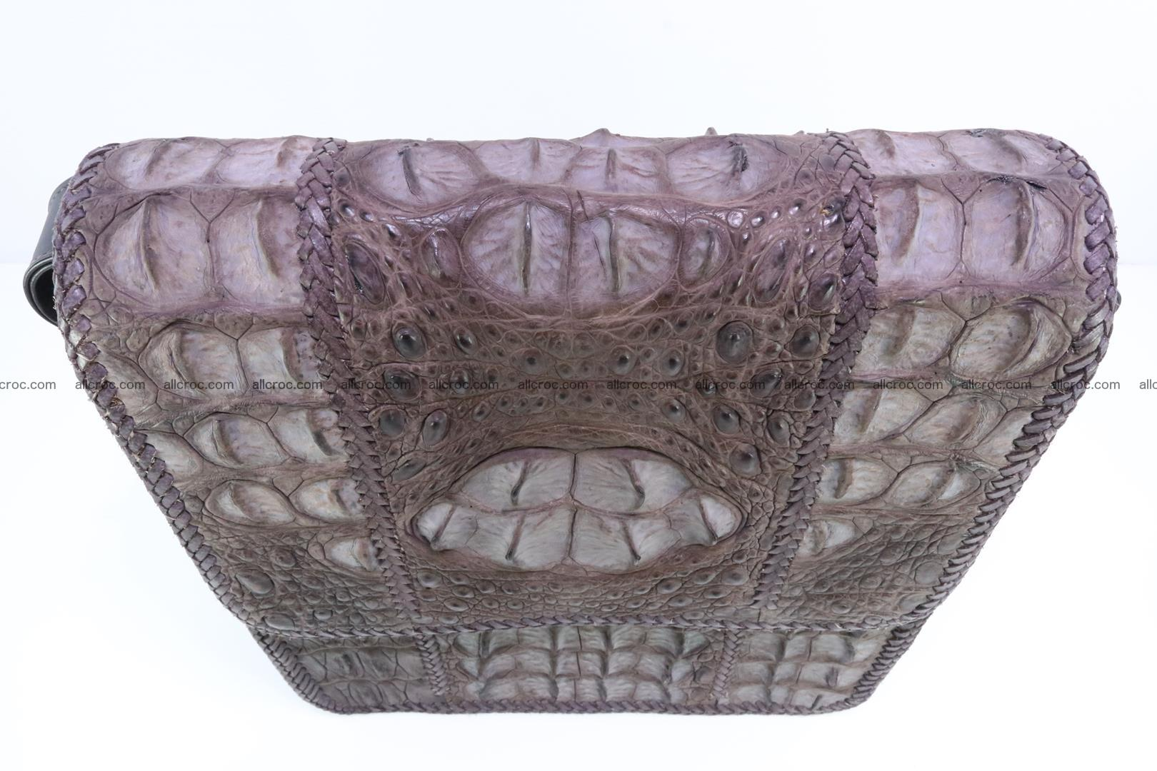 Сrocodile skin shoulder bag with braided edges 142 Foto 5
