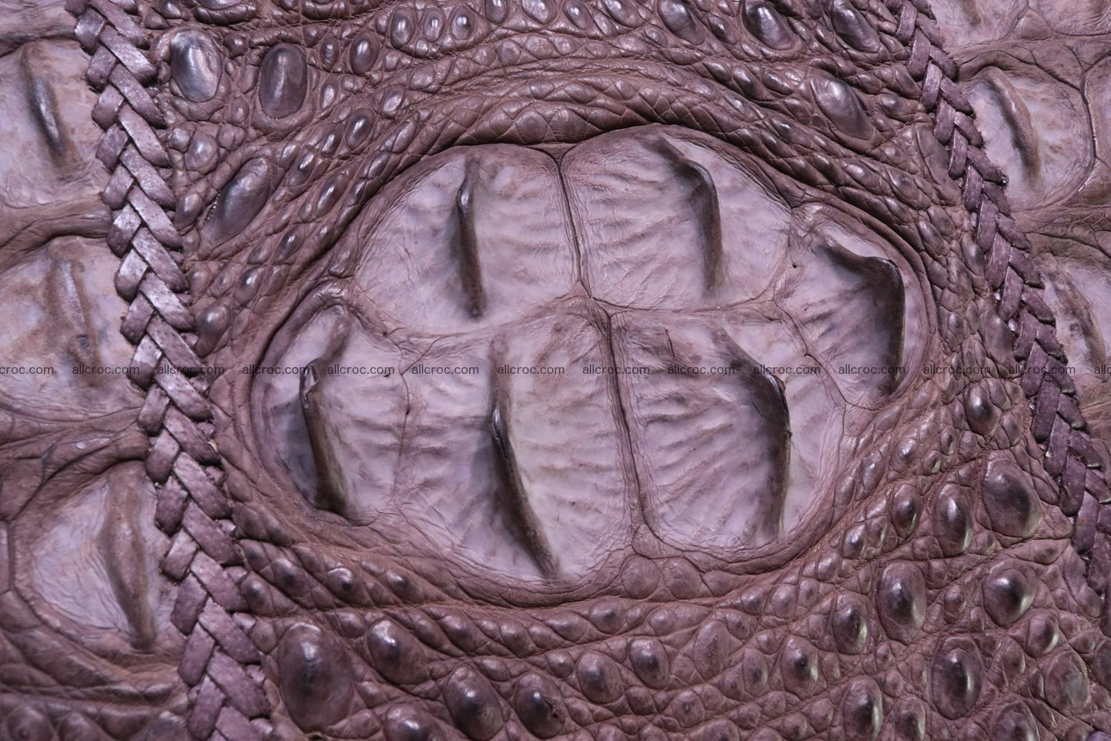 Сrocodile skin shoulder bag with braided edges 142 Foto 6