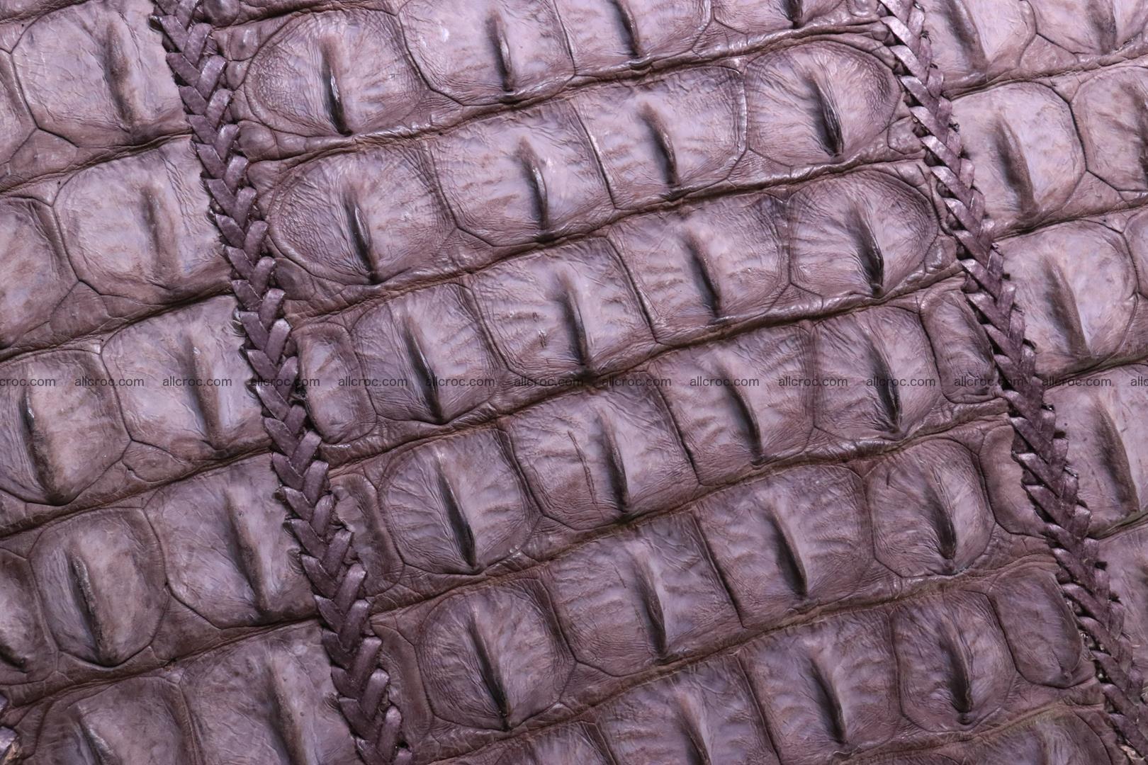 Сrocodile skin shoulder bag with braided edges 142 Foto 8