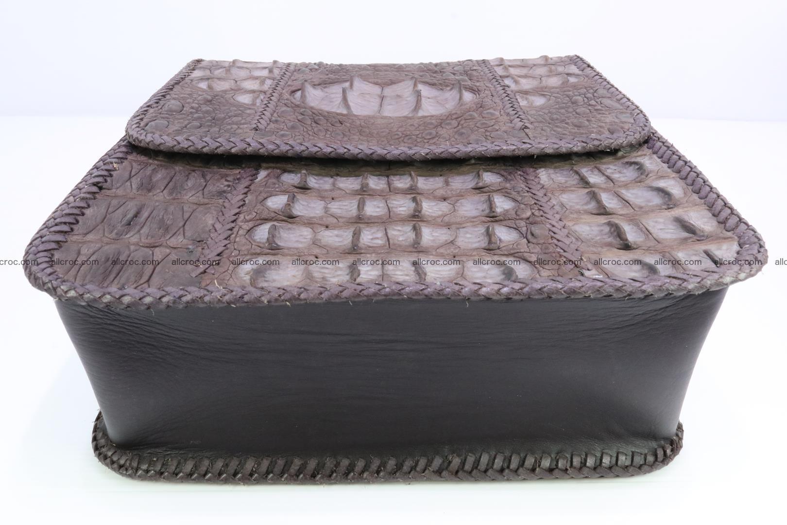 Сrocodile skin shoulder bag with braided edges 142 Foto 7