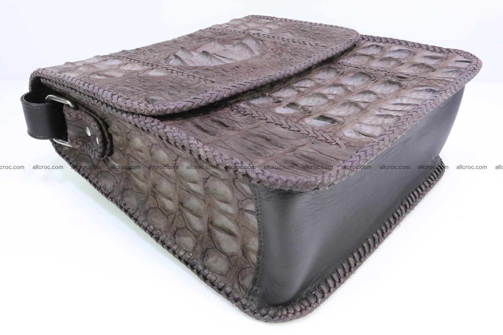 Сrocodile skin shoulder bag with braided edges 142 Foto 9
