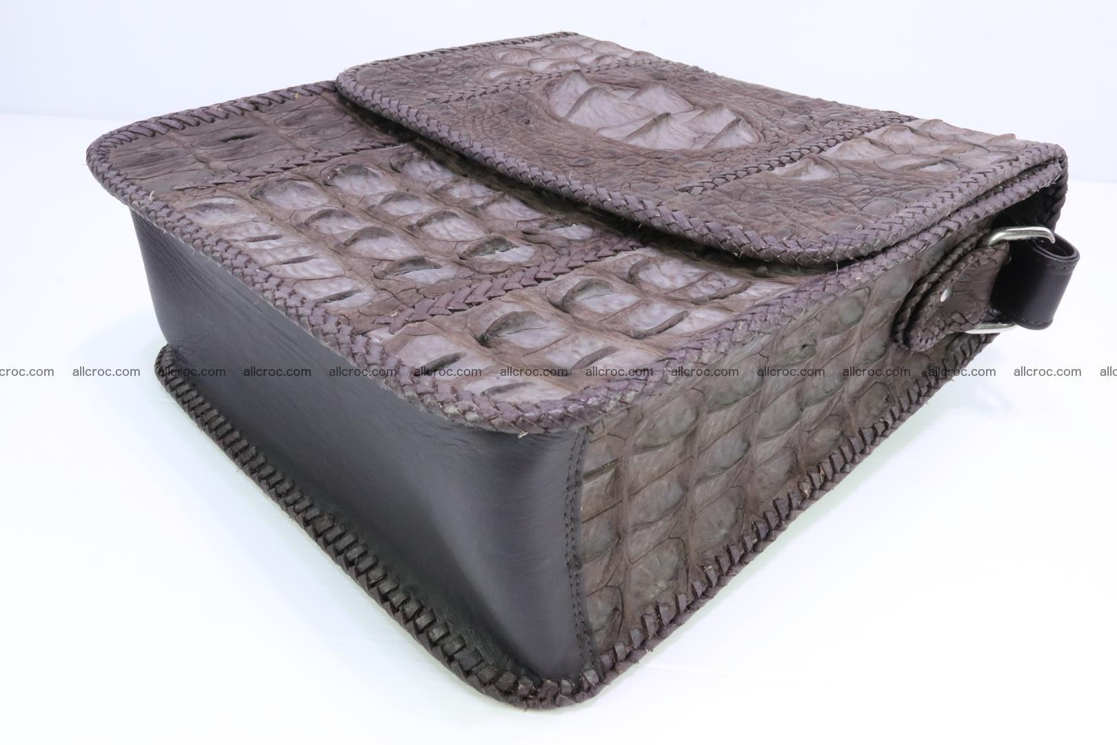 Сrocodile skin shoulder bag with braided edges 142 Foto 10