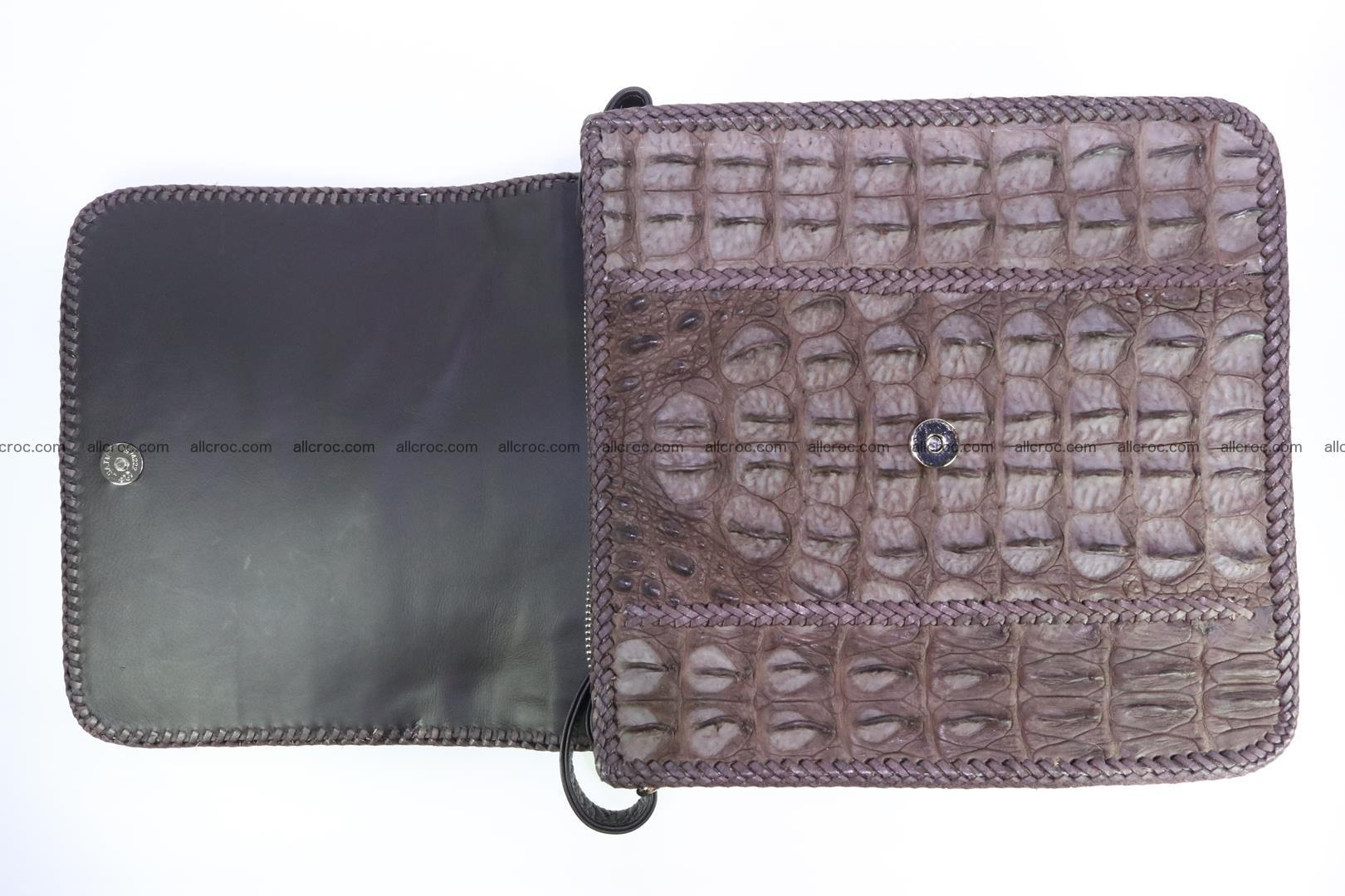 Сrocodile skin shoulder bag with braided edges 142 Foto 11