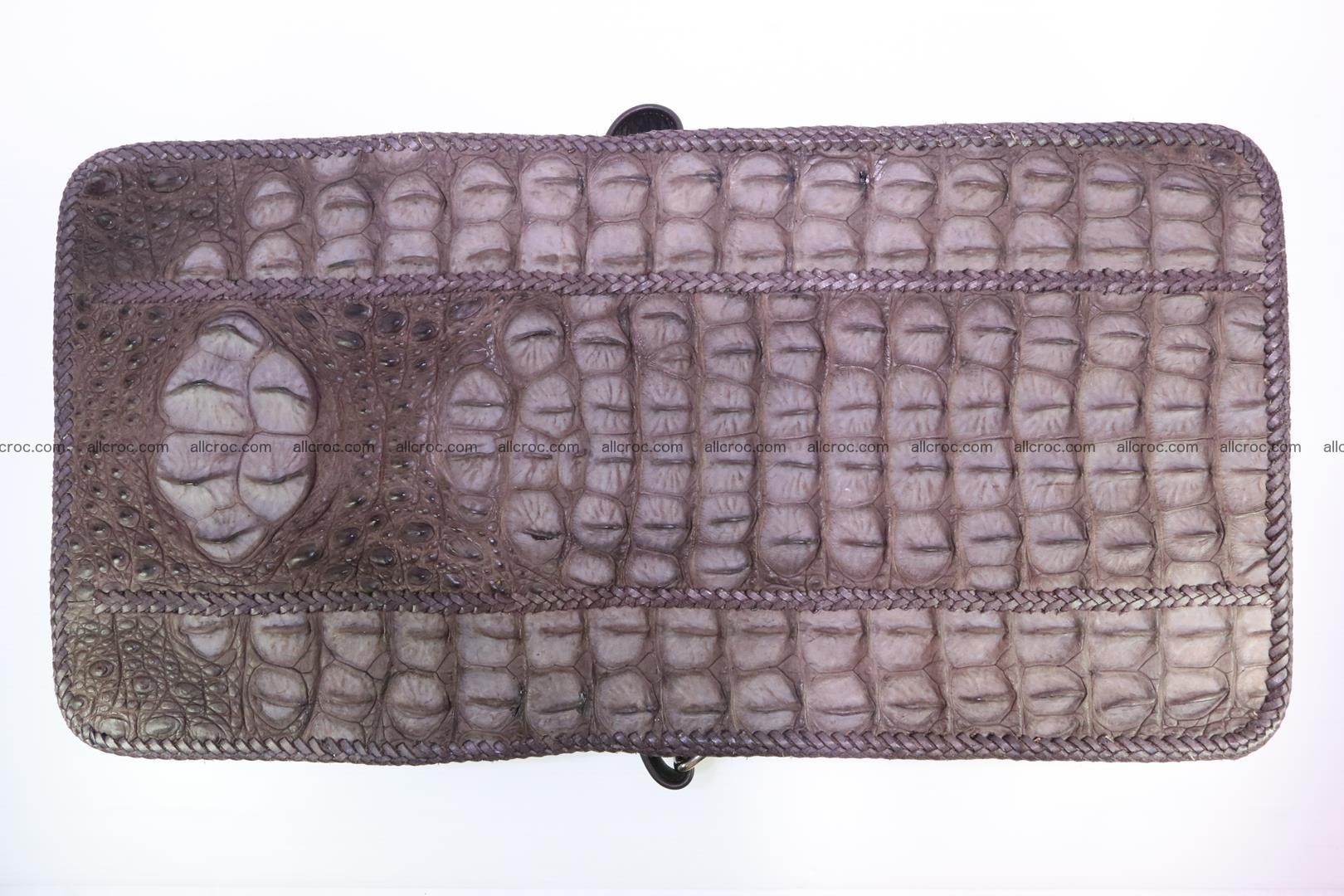 Сrocodile skin shoulder bag with braided edges 142 Foto 12