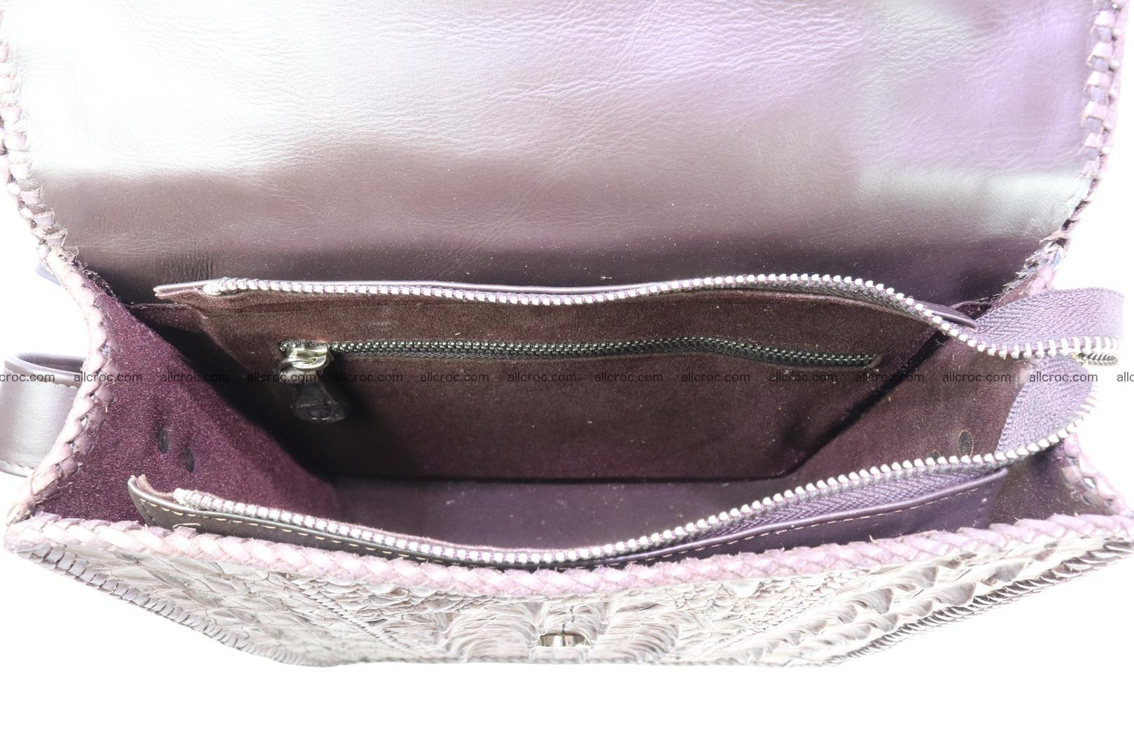 Сrocodile skin shoulder bag with braided edges 142 Foto 13