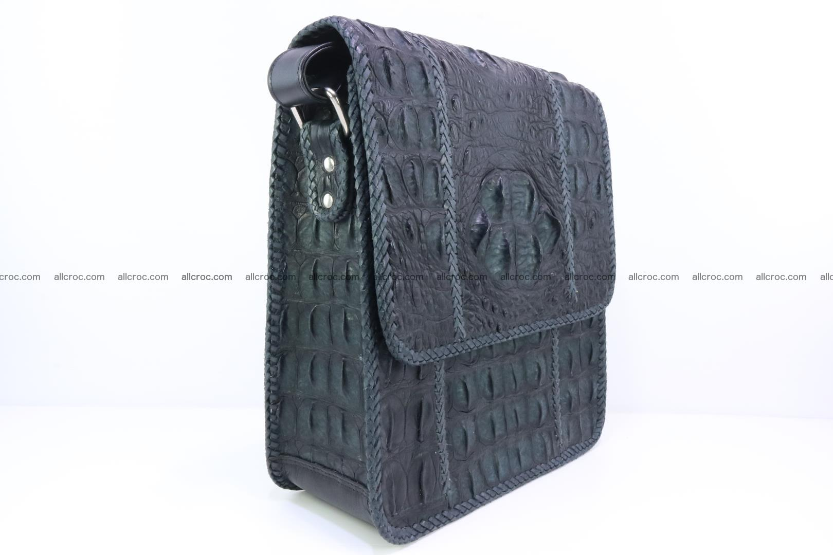 Сrocodile skin shoulder bag with braided edges 143 Foto 1