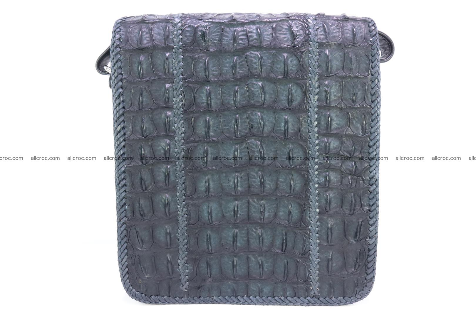 Сrocodile skin shoulder bag with braided edges 143 Foto 3