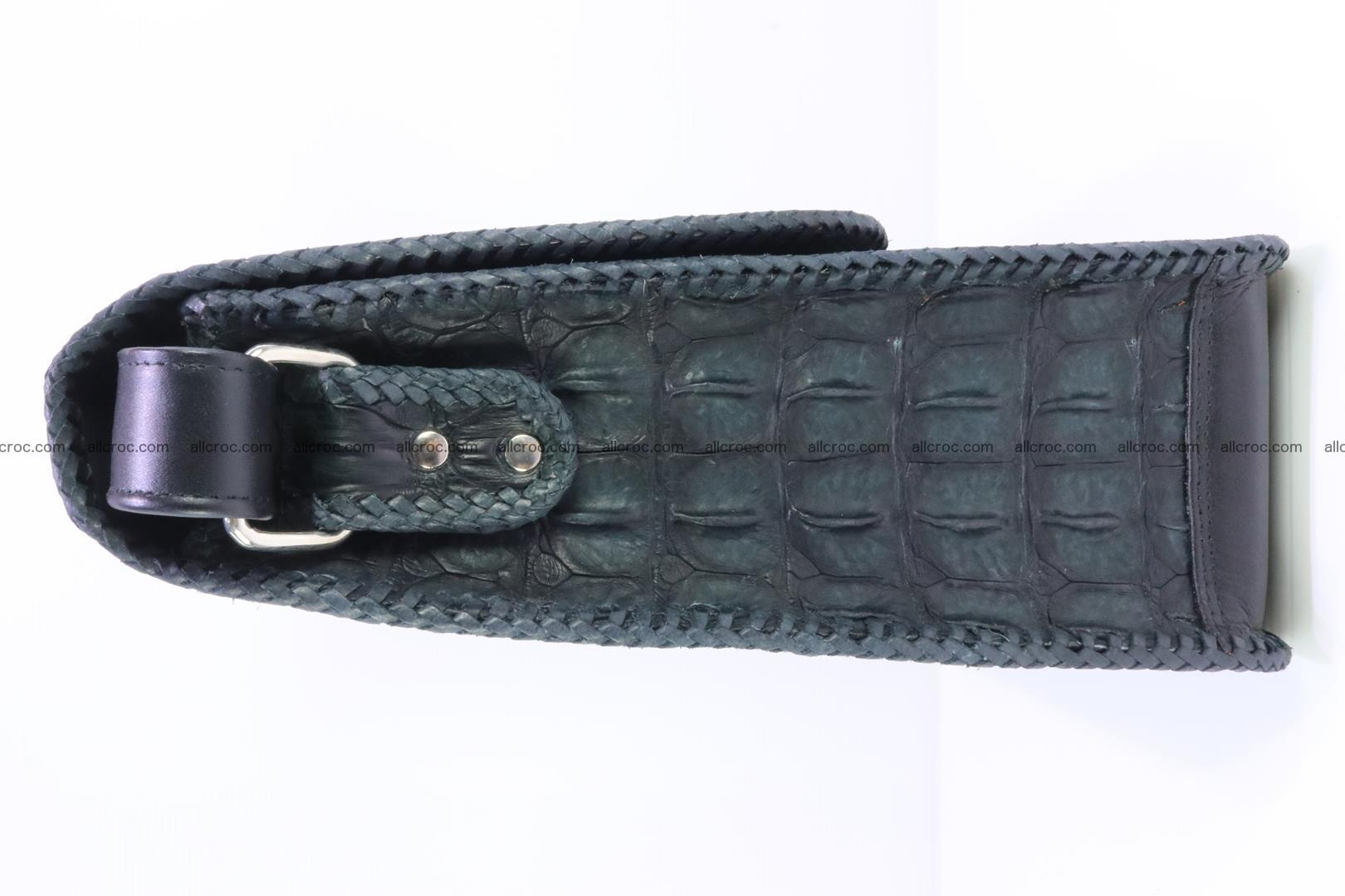 Сrocodile skin shoulder bag with braided edges 143 Foto 4