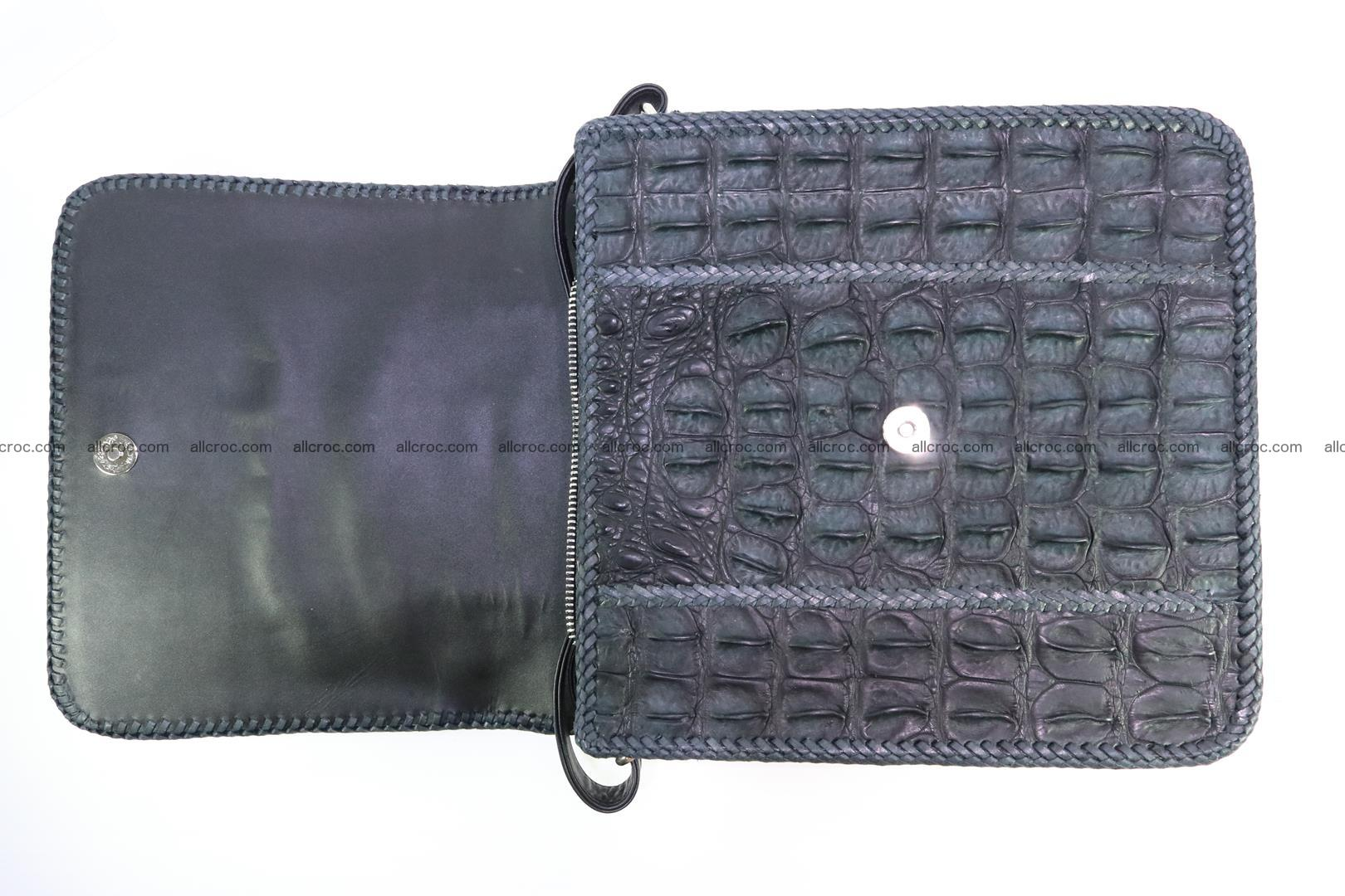 Сrocodile skin shoulder bag with braided edges 143 Foto 11