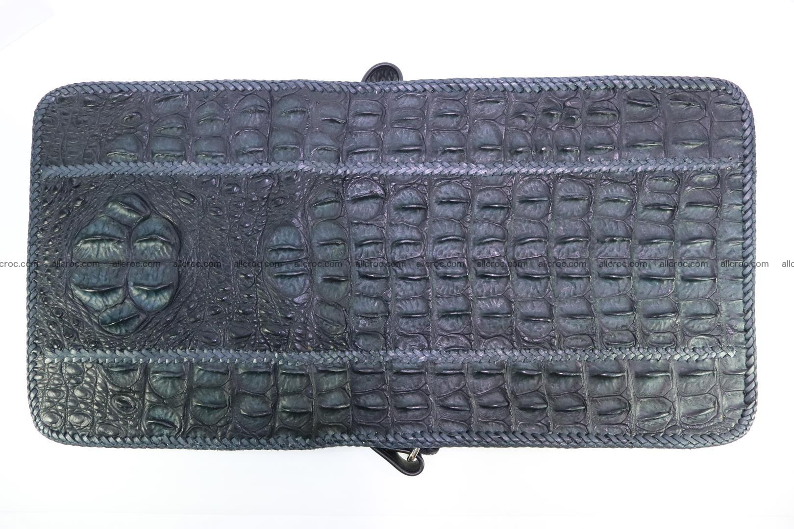 Сrocodile skin shoulder bag with braided edges 143 Foto 12