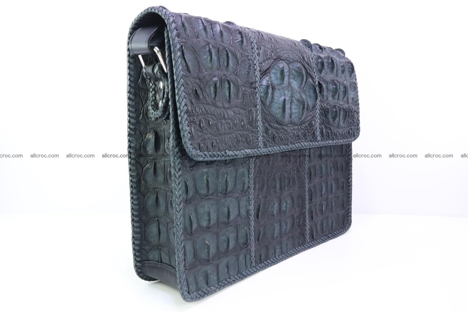 Crocodile skin shoulder bag with braided edges 146 Foto 2