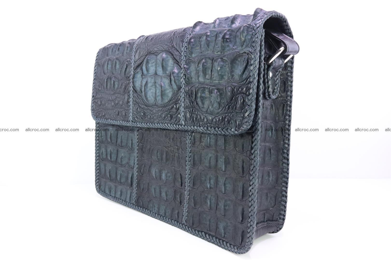 Crocodile skin shoulder bag with braided edges 146 Foto 3