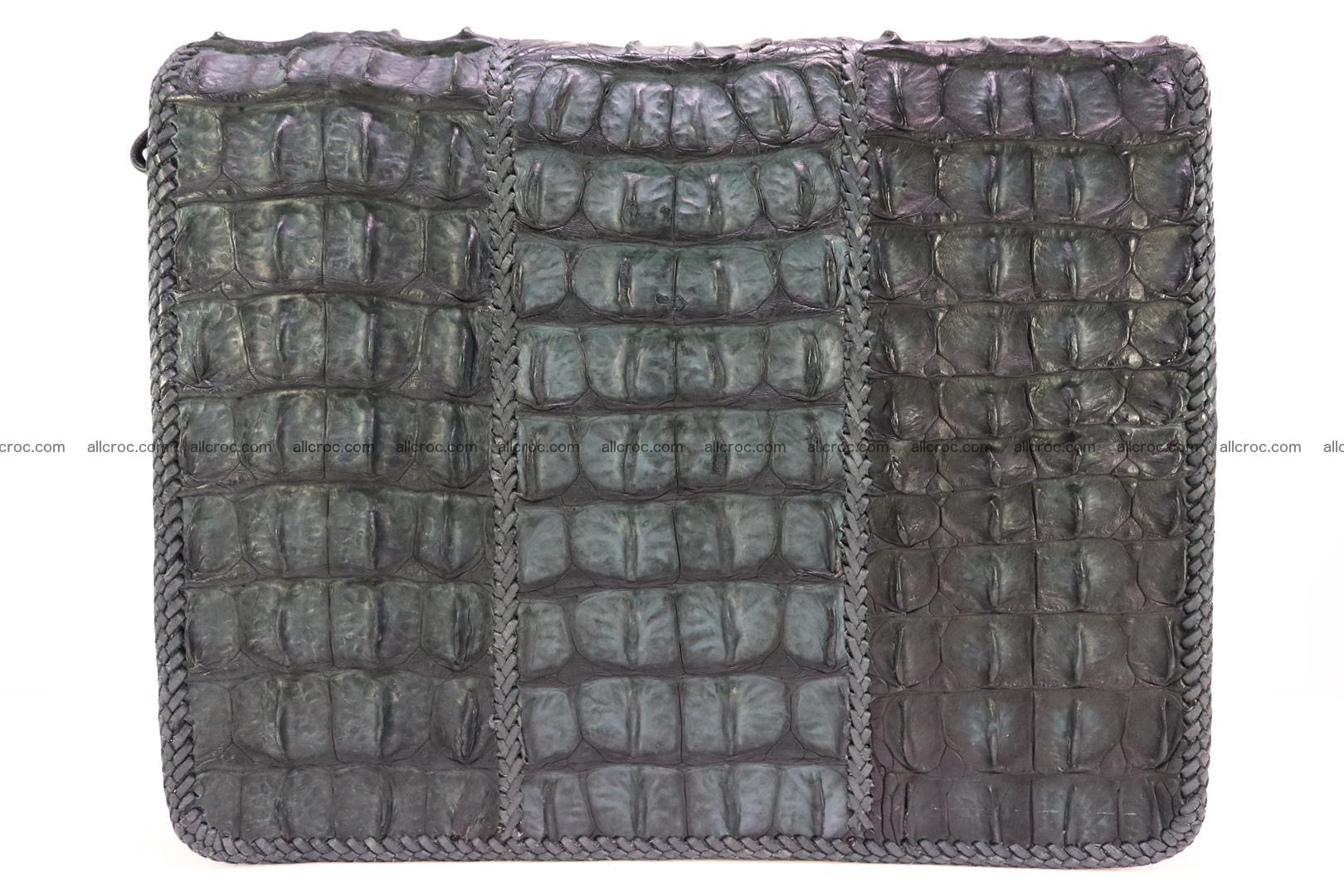 Crocodile skin shoulder bag with braided edges 146 Foto 1